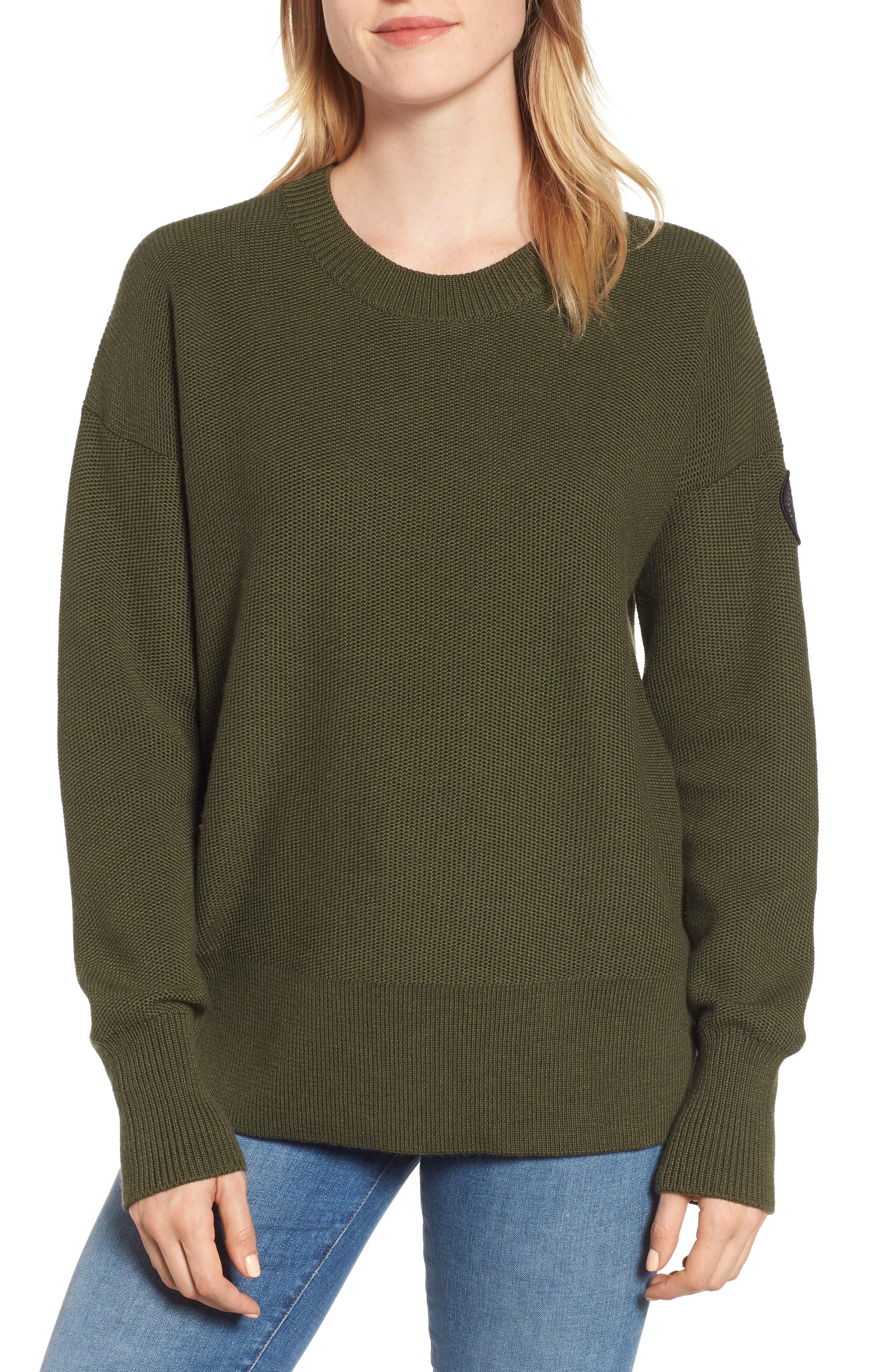 Canada Goose Aleza Merino Wool Sweater, (6-8) - Green