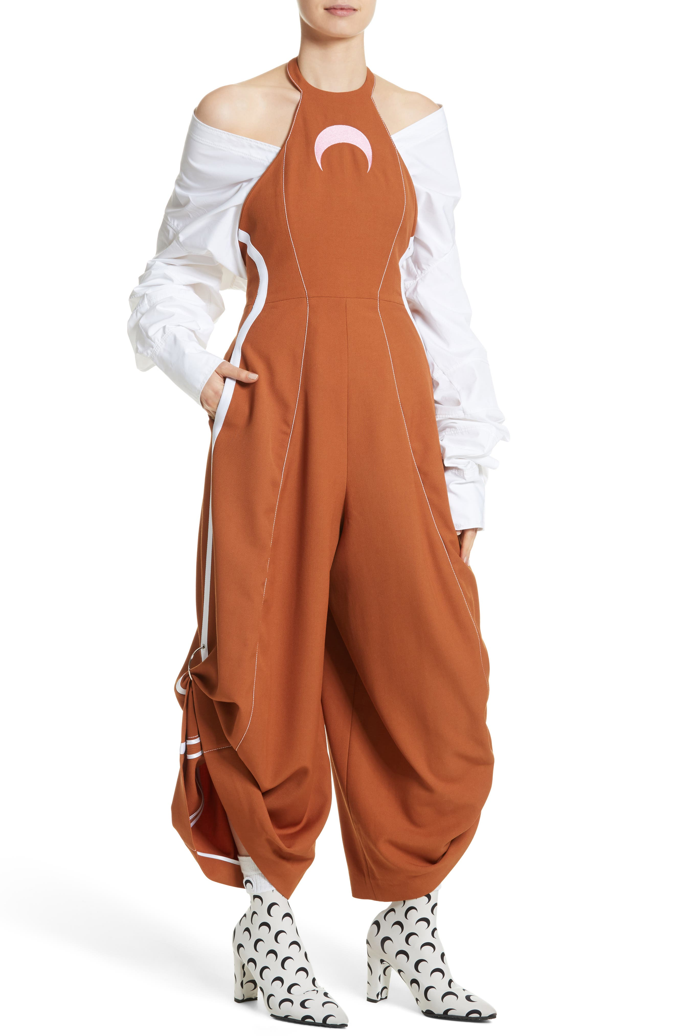 Wool Jumpsuit,                             Alternate thumbnail 8, color,