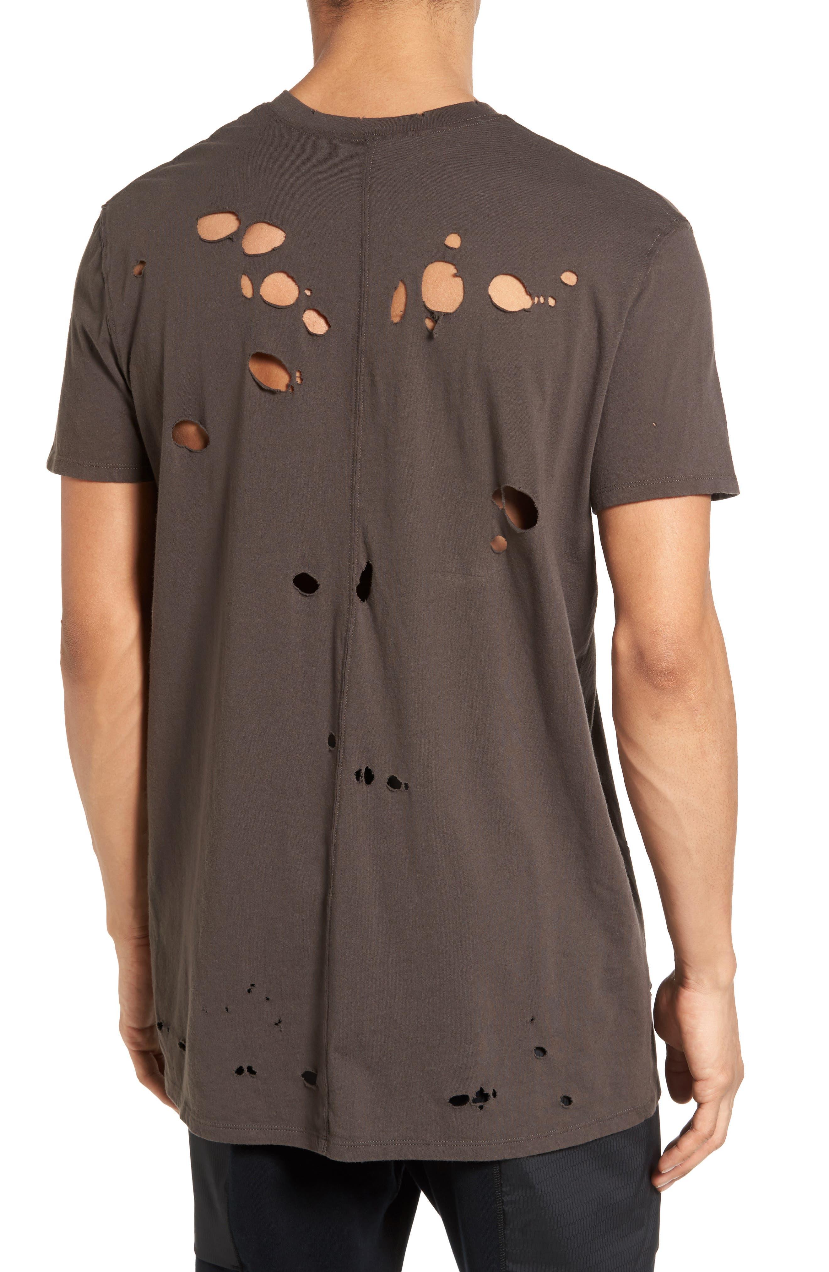 Torn Crewneck T-Shirt,                             Alternate thumbnail 7, color,