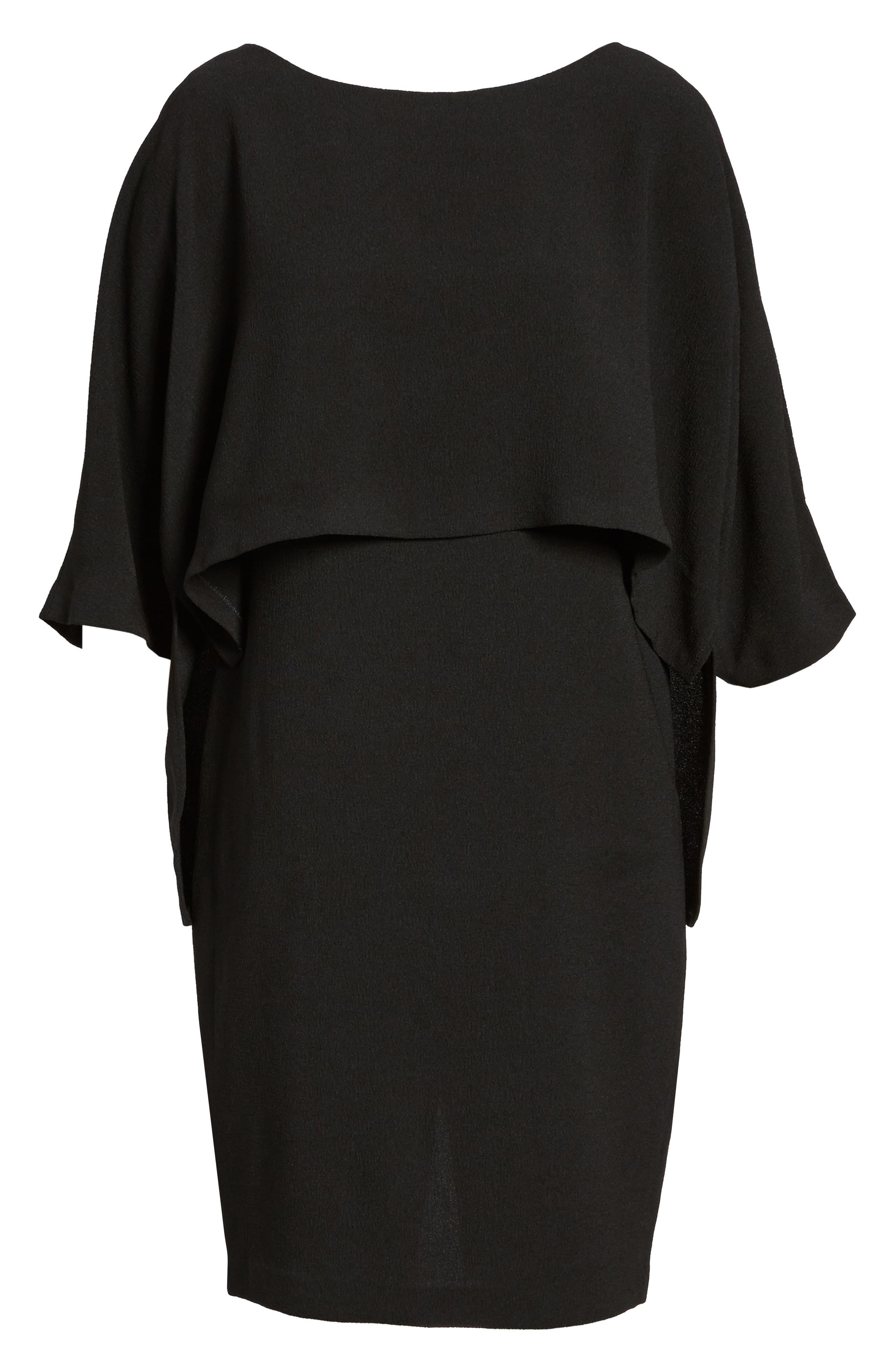Draped Blouson Sheath Dress,                             Alternate thumbnail 2, color,                             002