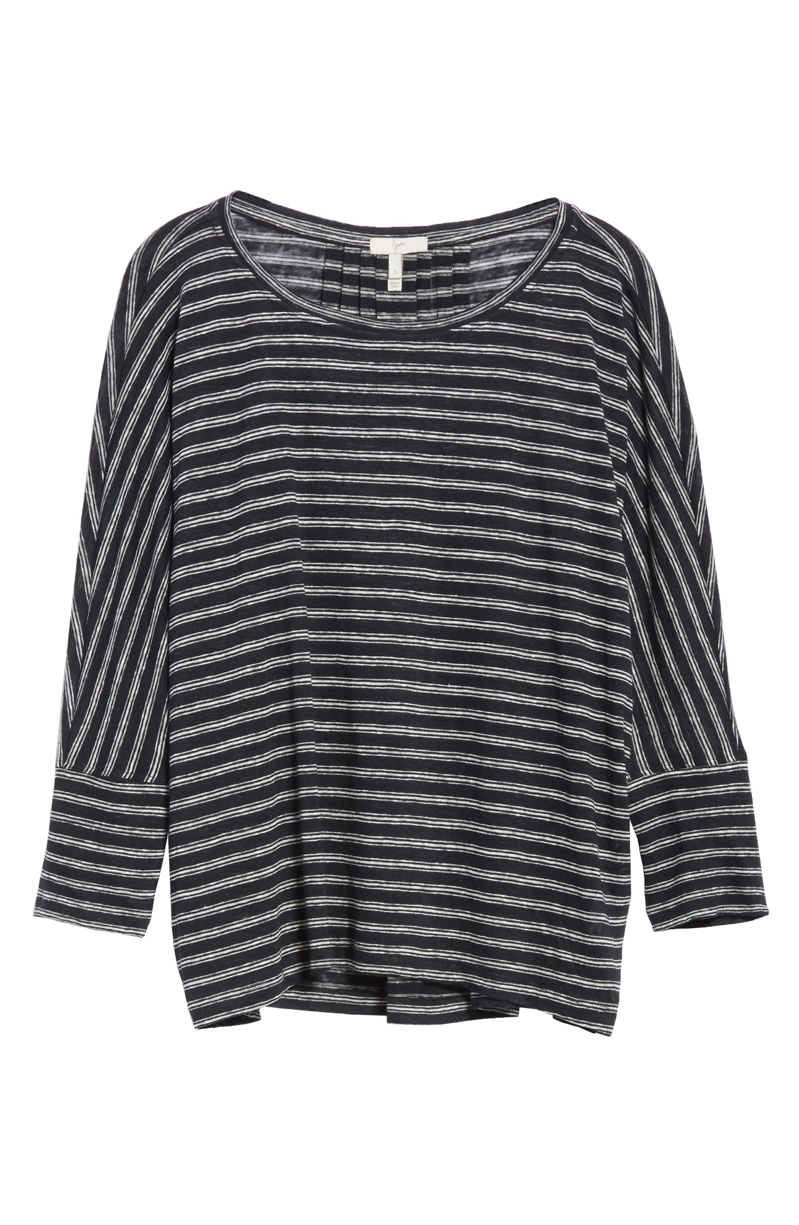 Stripe Linen Knit Top,                             Alternate thumbnail 6, color,                             904