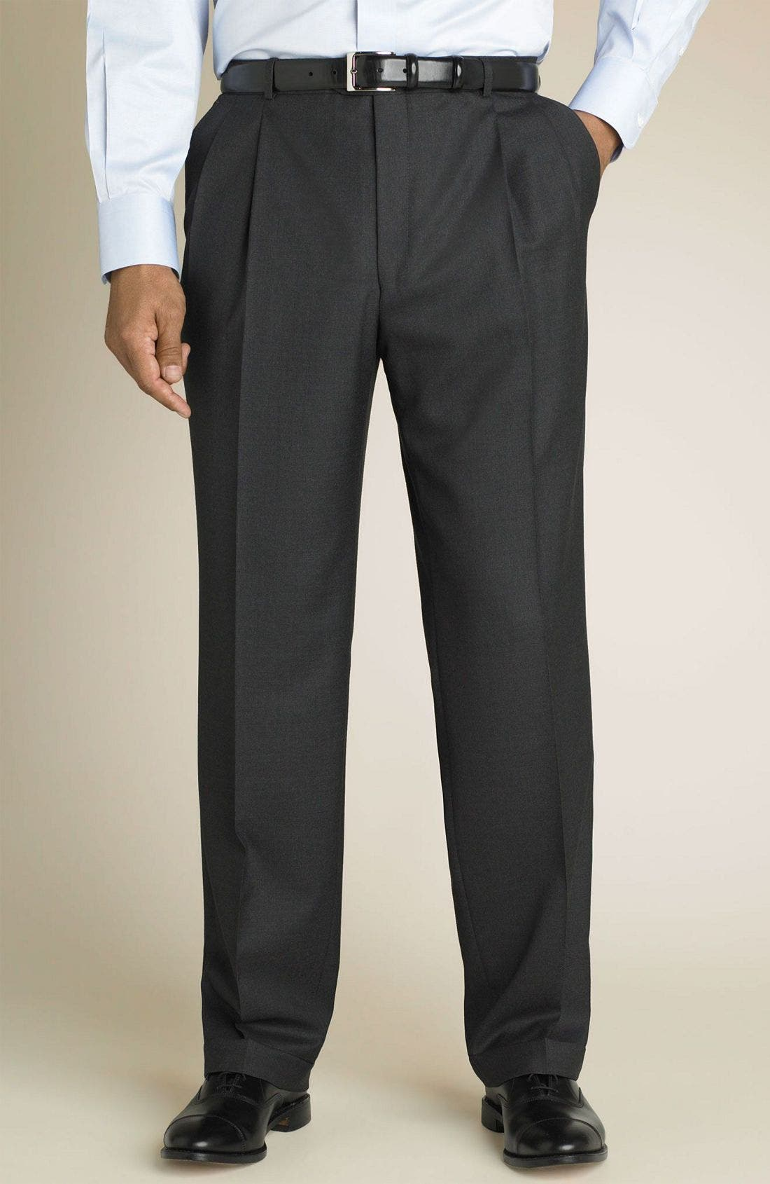 'Madison' Navy Loro Piana Wool Suit,                             Alternate thumbnail 2, color,                             GRY