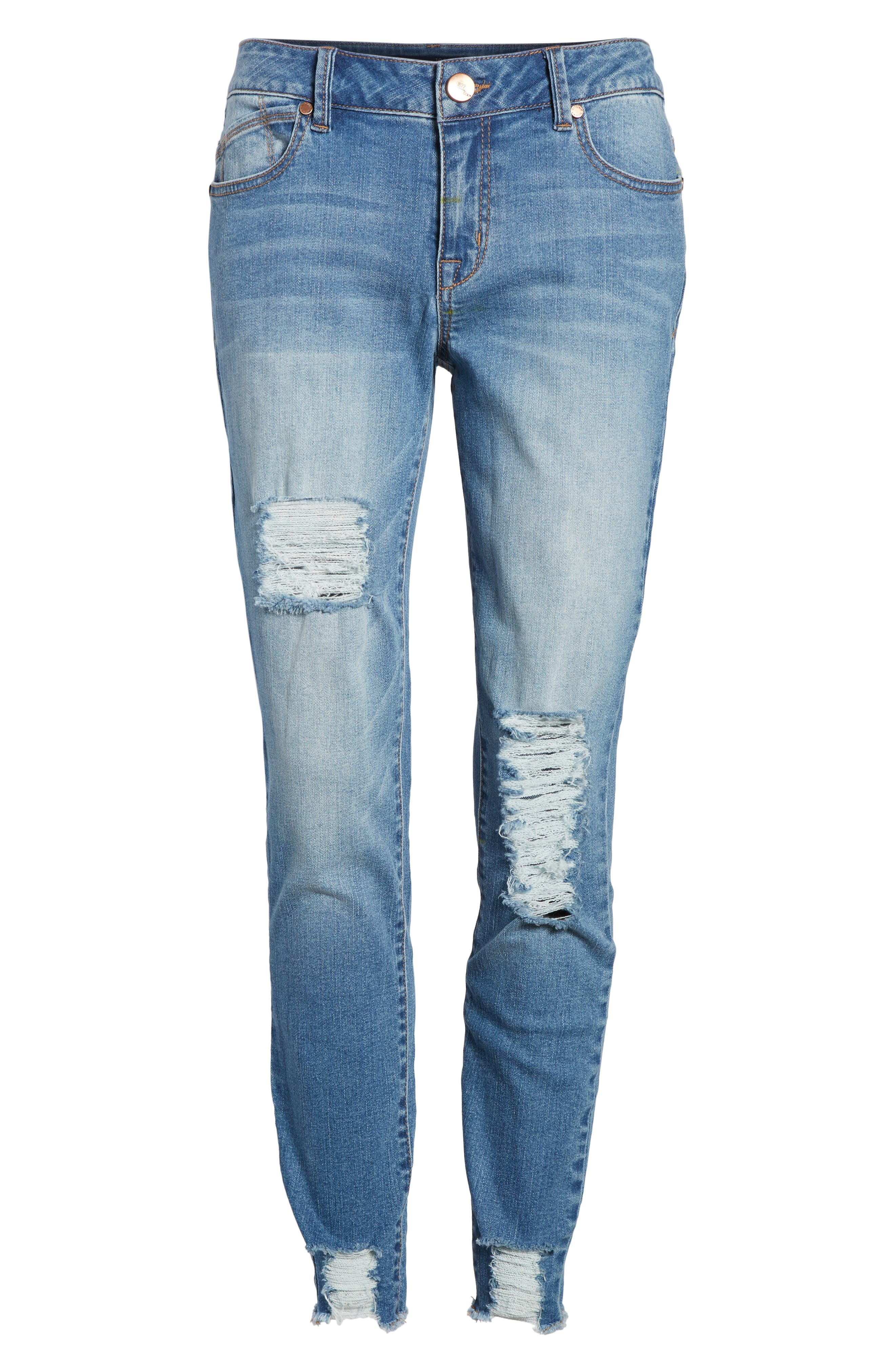 Decon Ripped Skinny Jeans,                             Alternate thumbnail 7, color,                             426