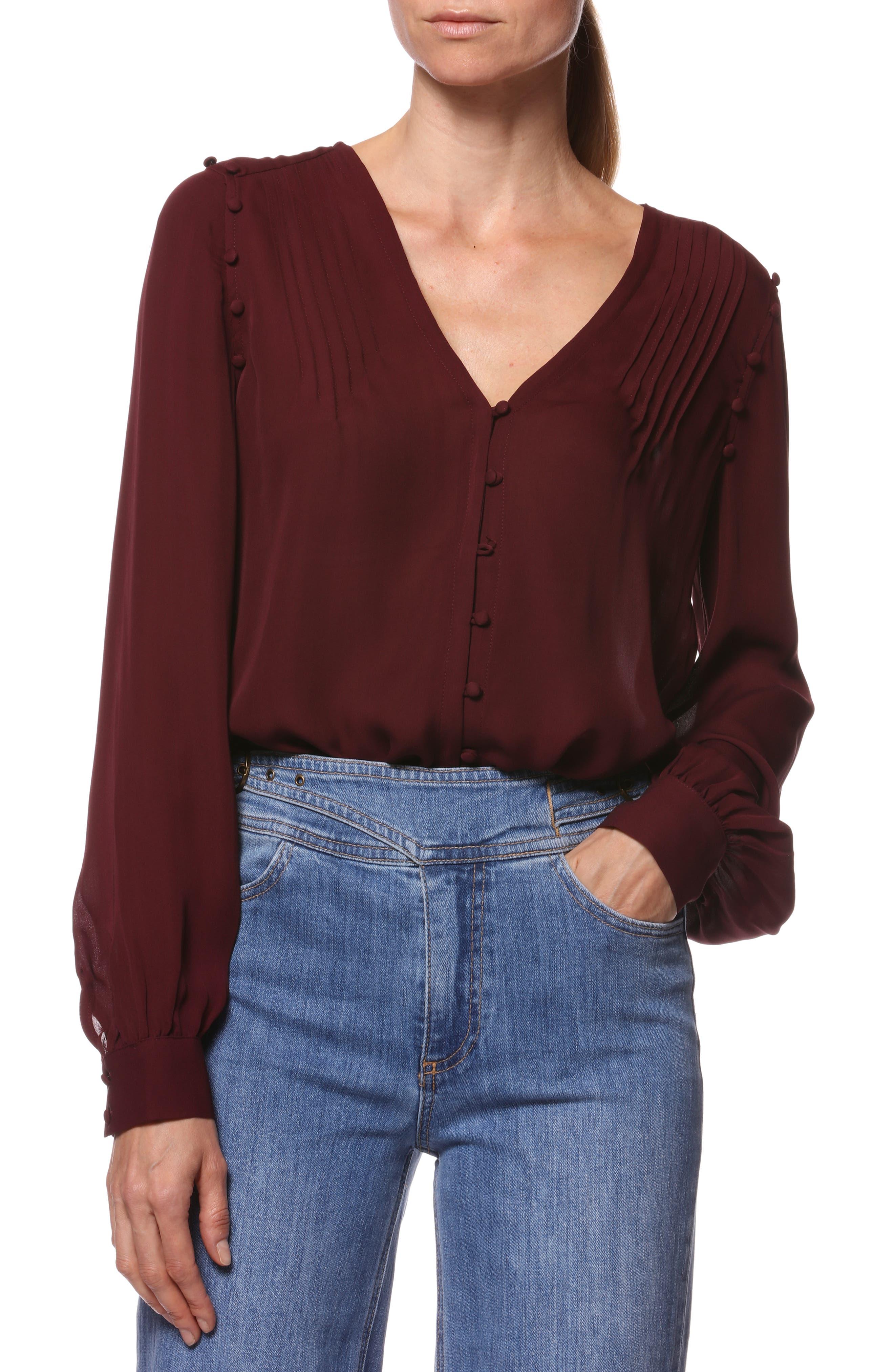 Aurinda Silk Top, Main, color, 603