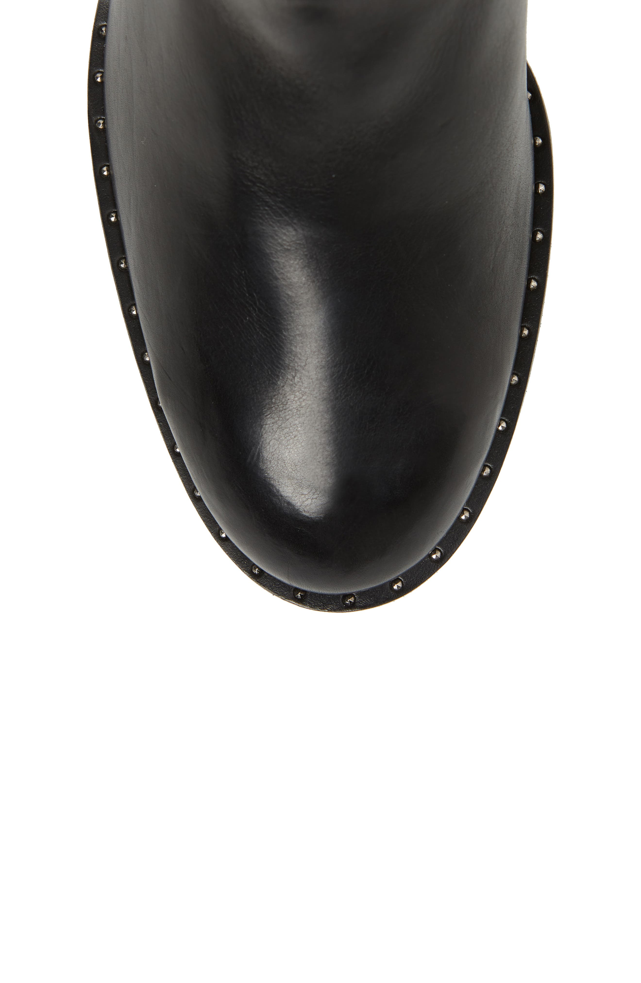 Stella Bootie,                             Alternate thumbnail 5, color,                             BLACK LEATHER