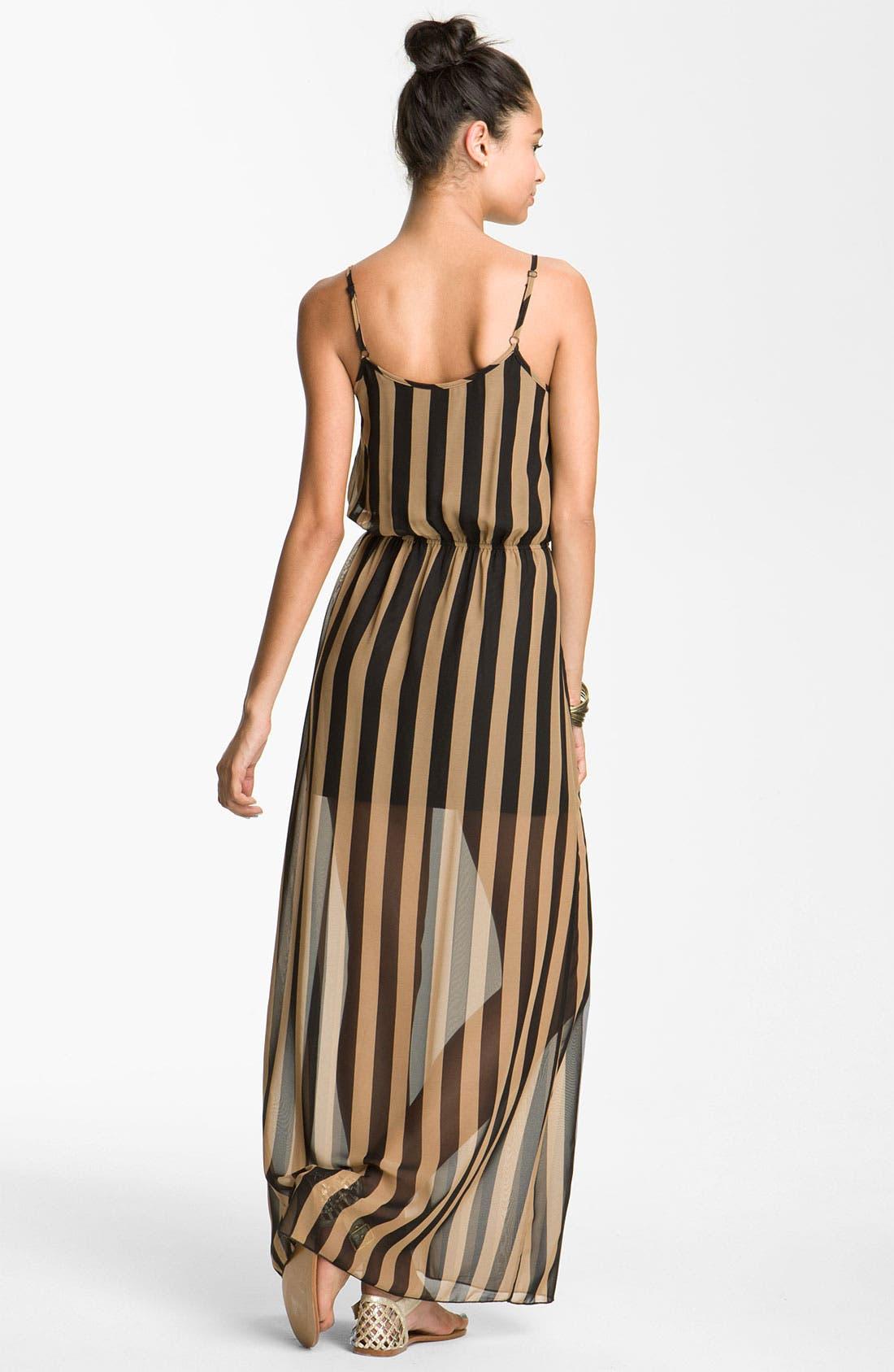 dee elle Maxi Dress,                             Alternate thumbnail 3, color,                             001