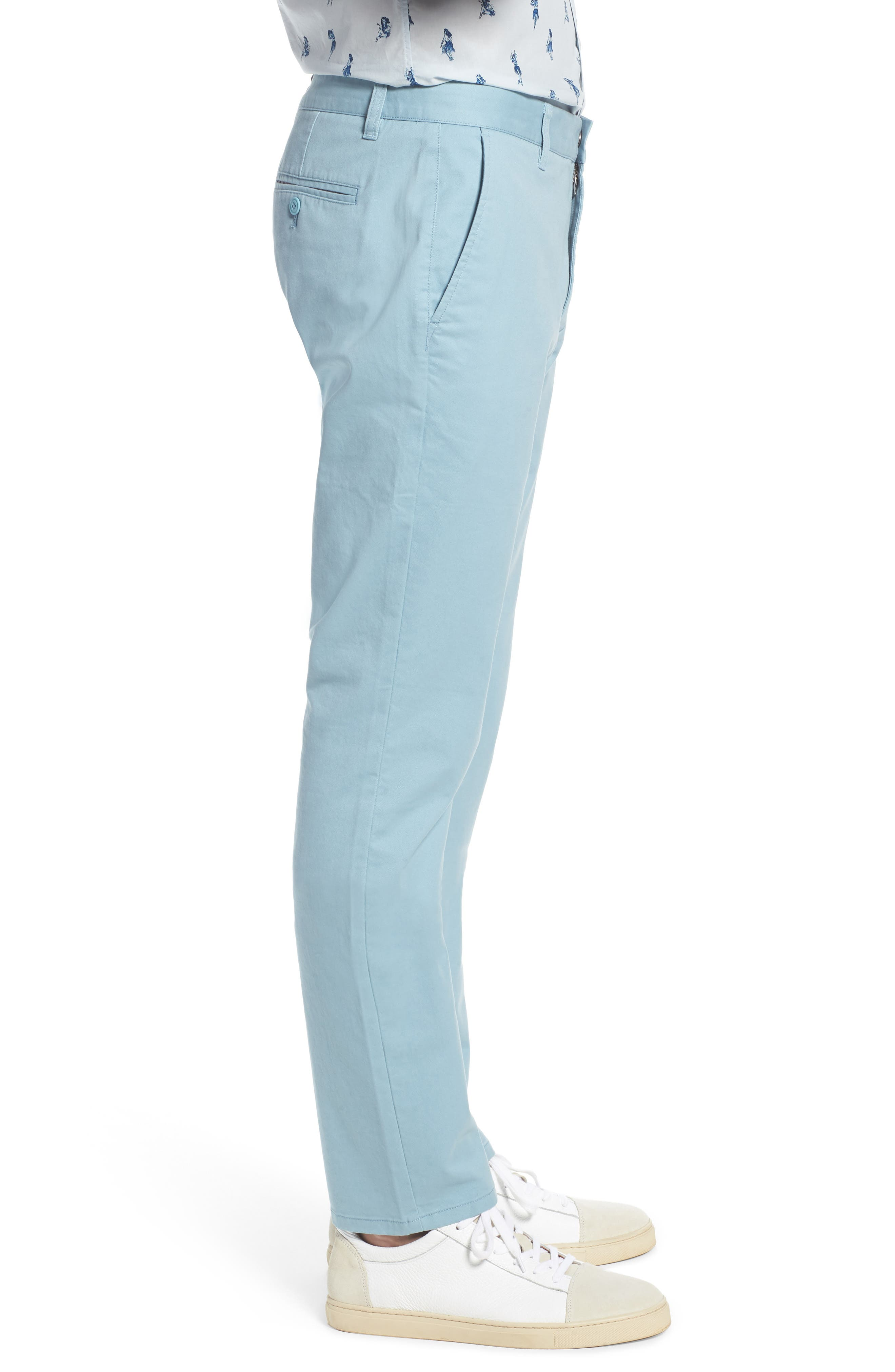 Tailored Fit Washed Stretch Cotton Chinos,                             Alternate thumbnail 85, color,