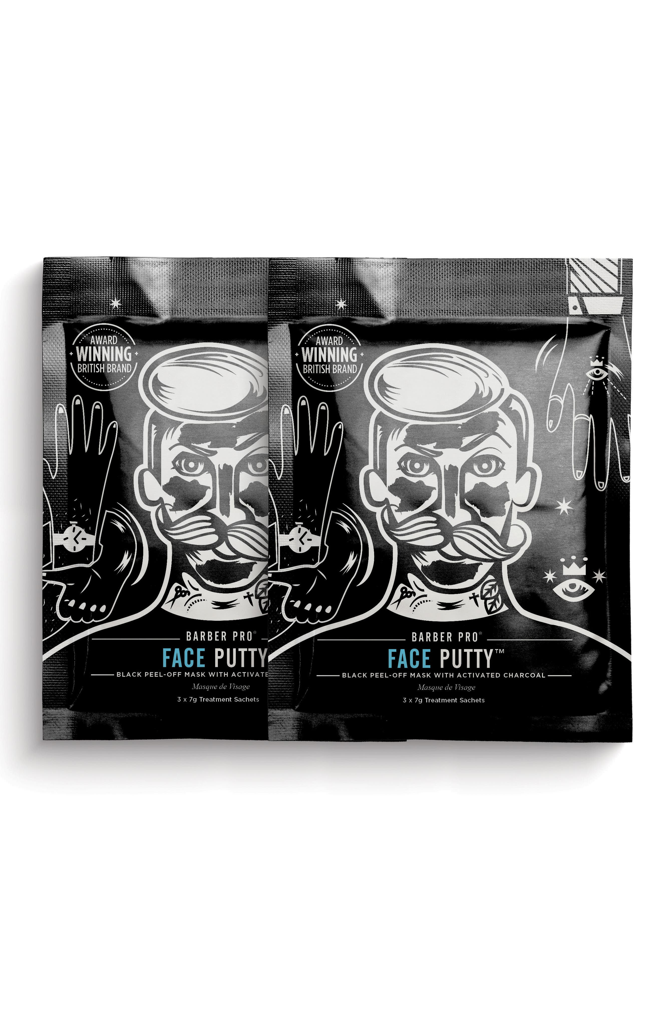 Face Putty Black Peel-Off Mask Duo,                             Main thumbnail 1, color,                             NO COLOR