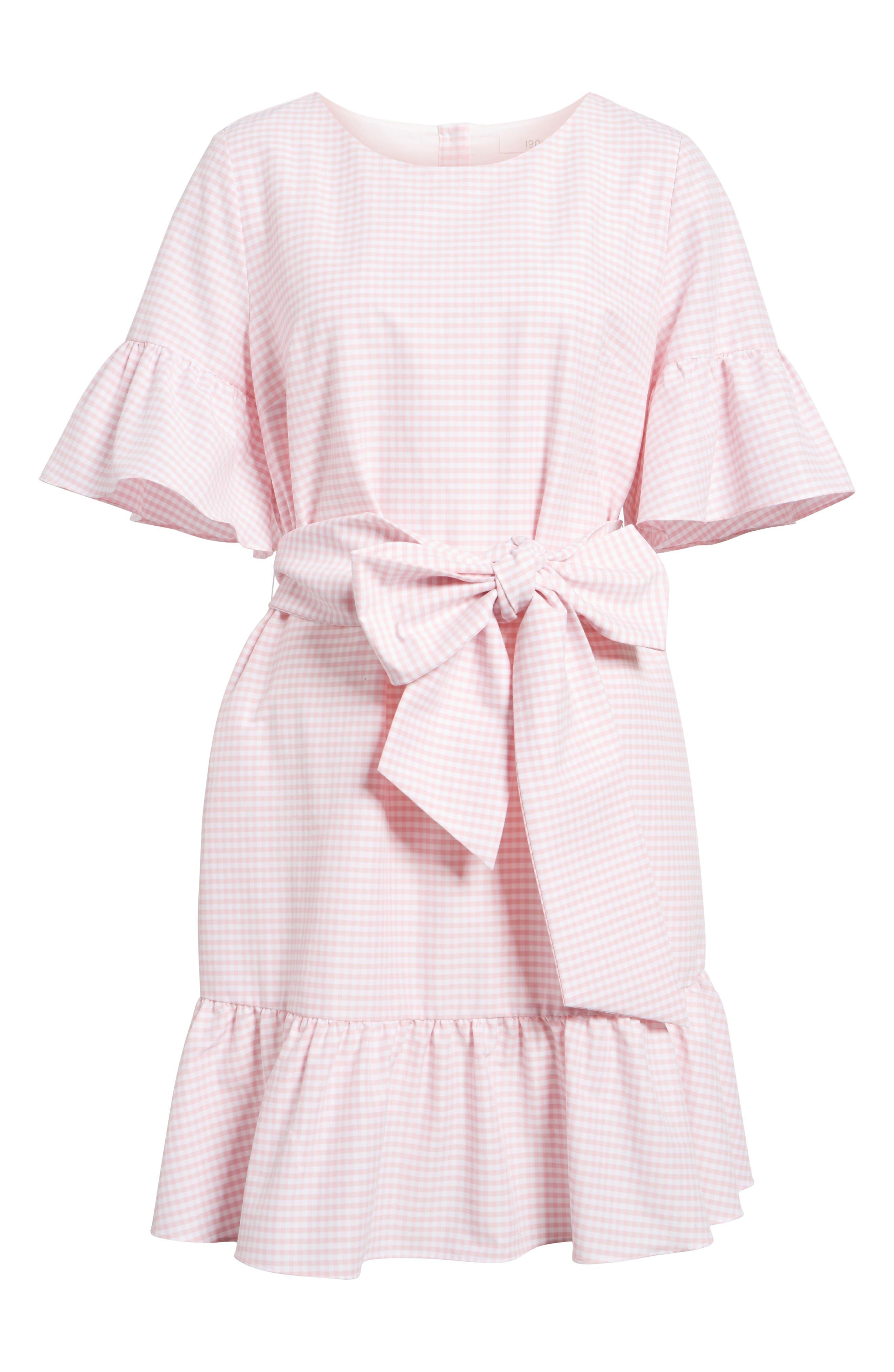 Ruffle & Bow Dress,                             Alternate thumbnail 21, color,