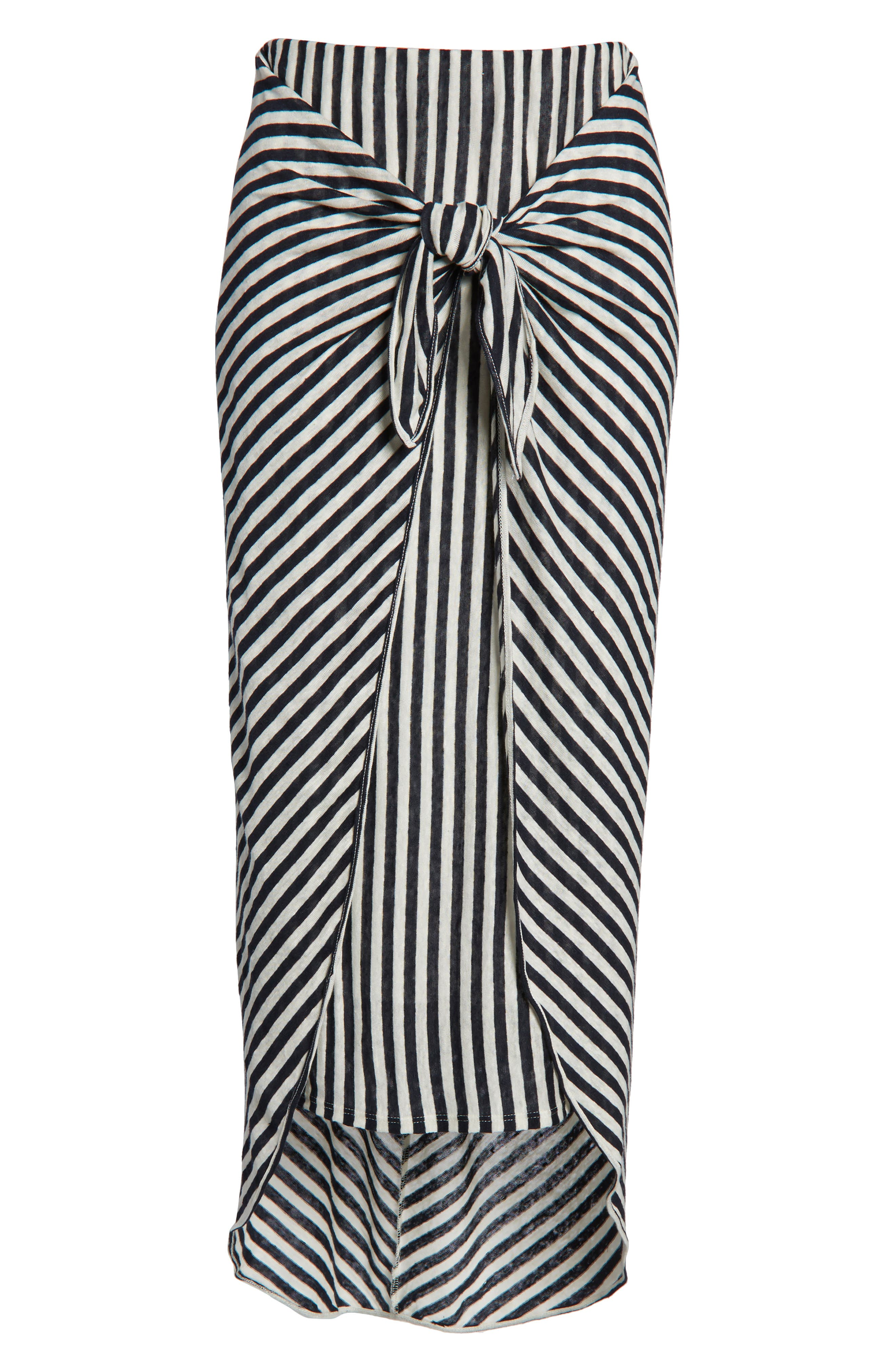 x Margherita Isola Stripe Sarong Skirt,                             Alternate thumbnail 6, color,                             461