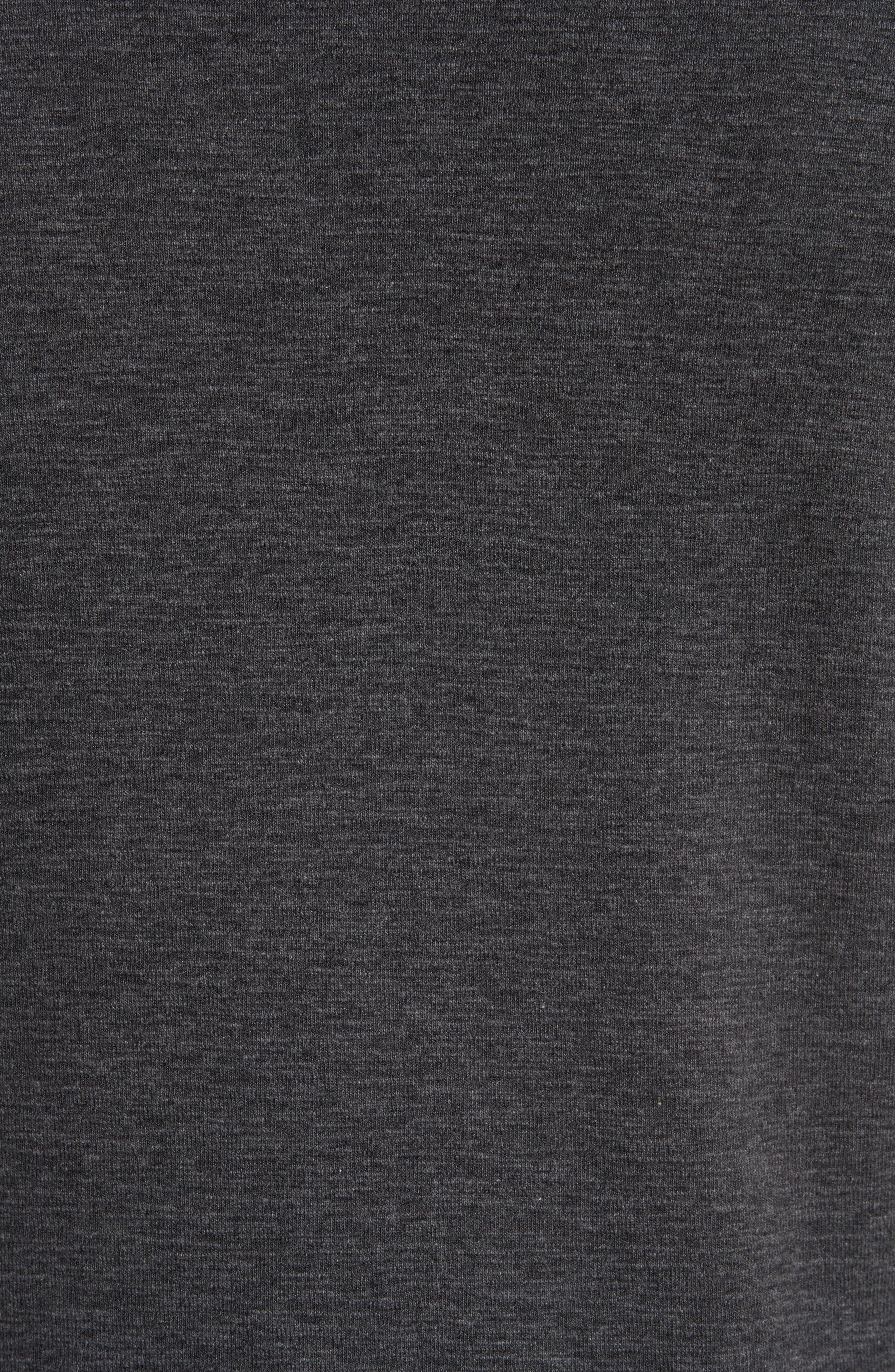 Ribbed Slub Cotton T-Shirt,                             Alternate thumbnail 5, color,                             HEATHER CHARCOAL