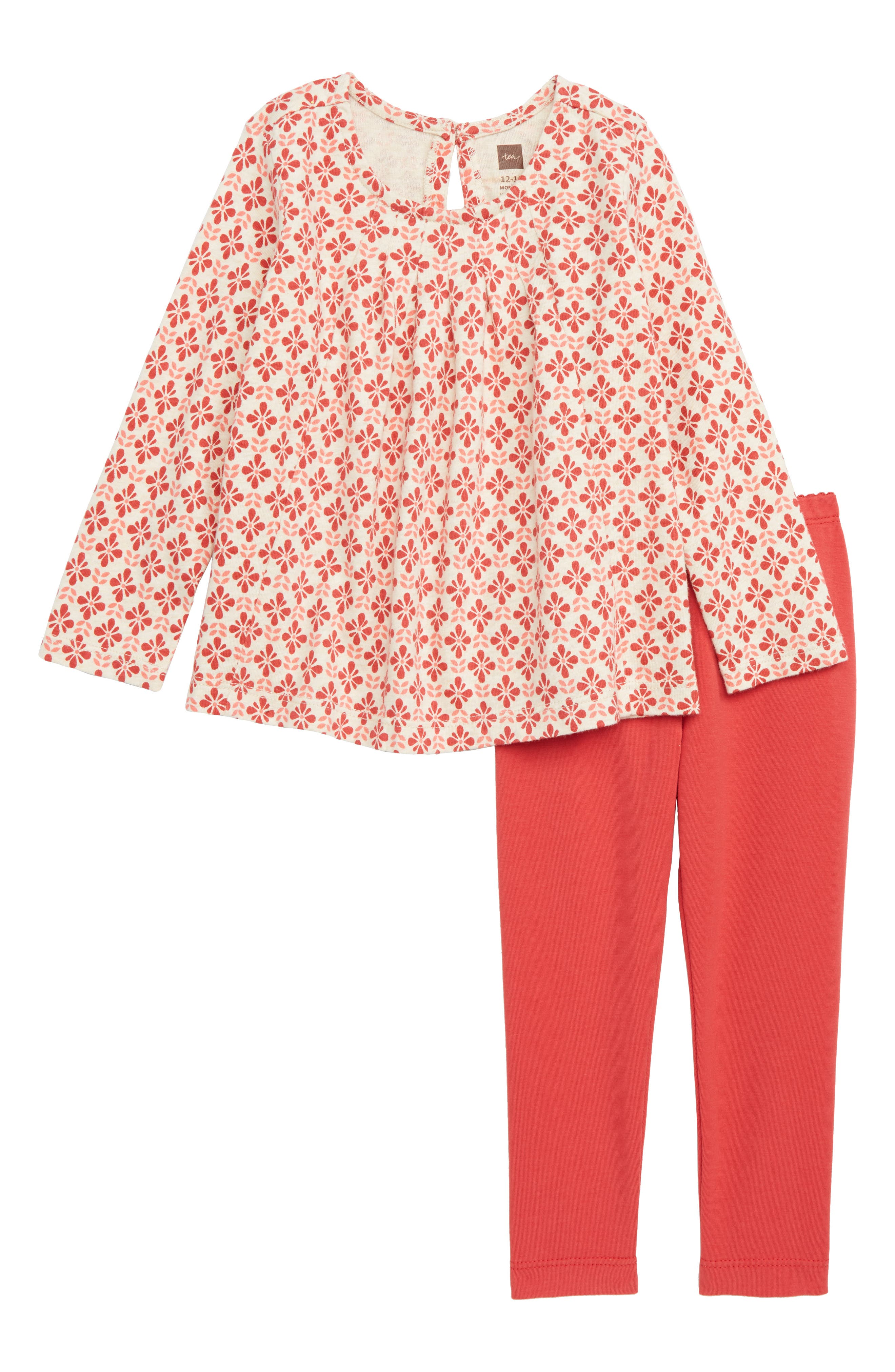 Infant Girls Tea Collection Pleated Swing Top  Leggings Set