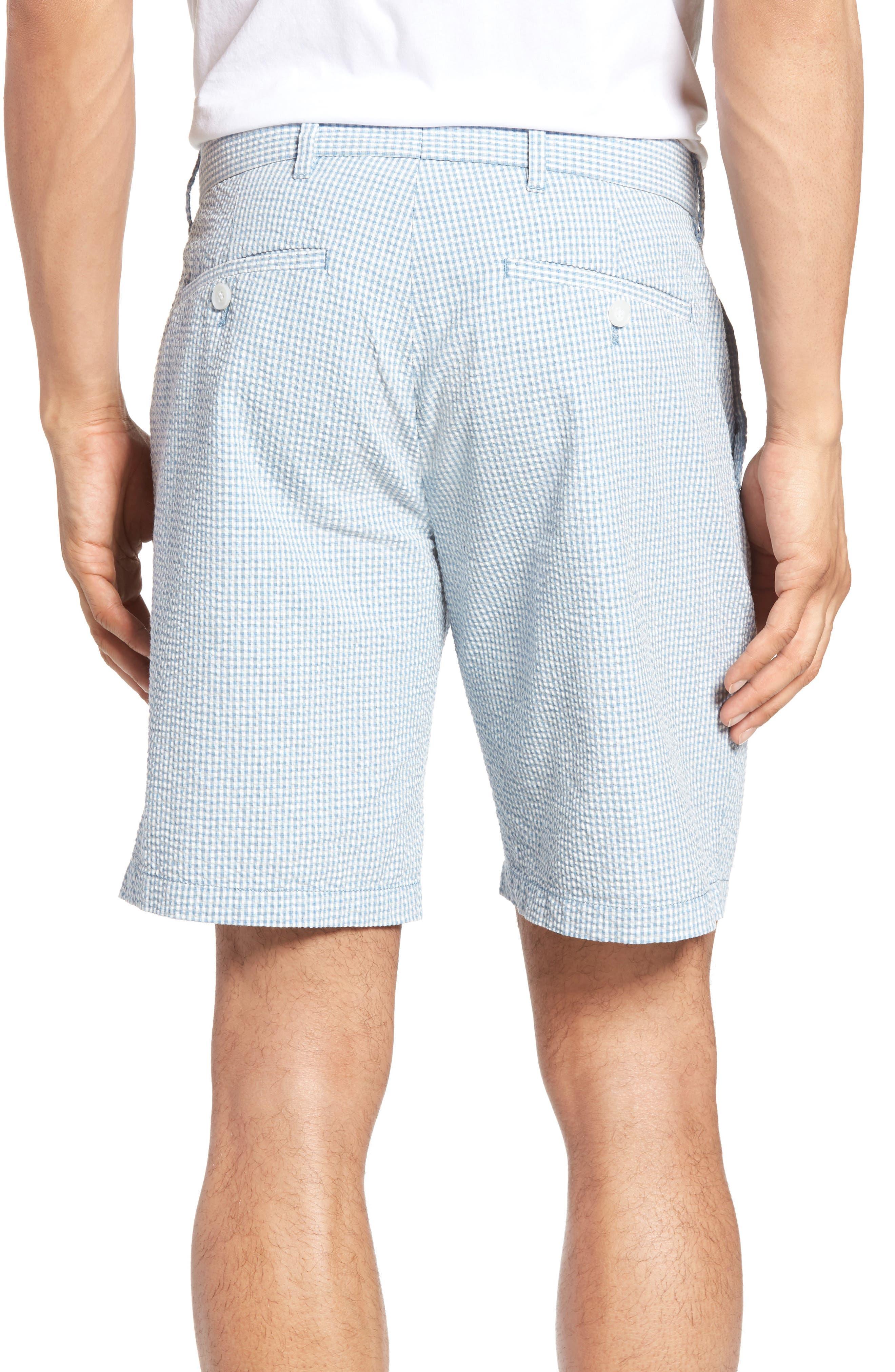 Fringe Check Seersucker Shorts,                             Alternate thumbnail 2, color,                             400