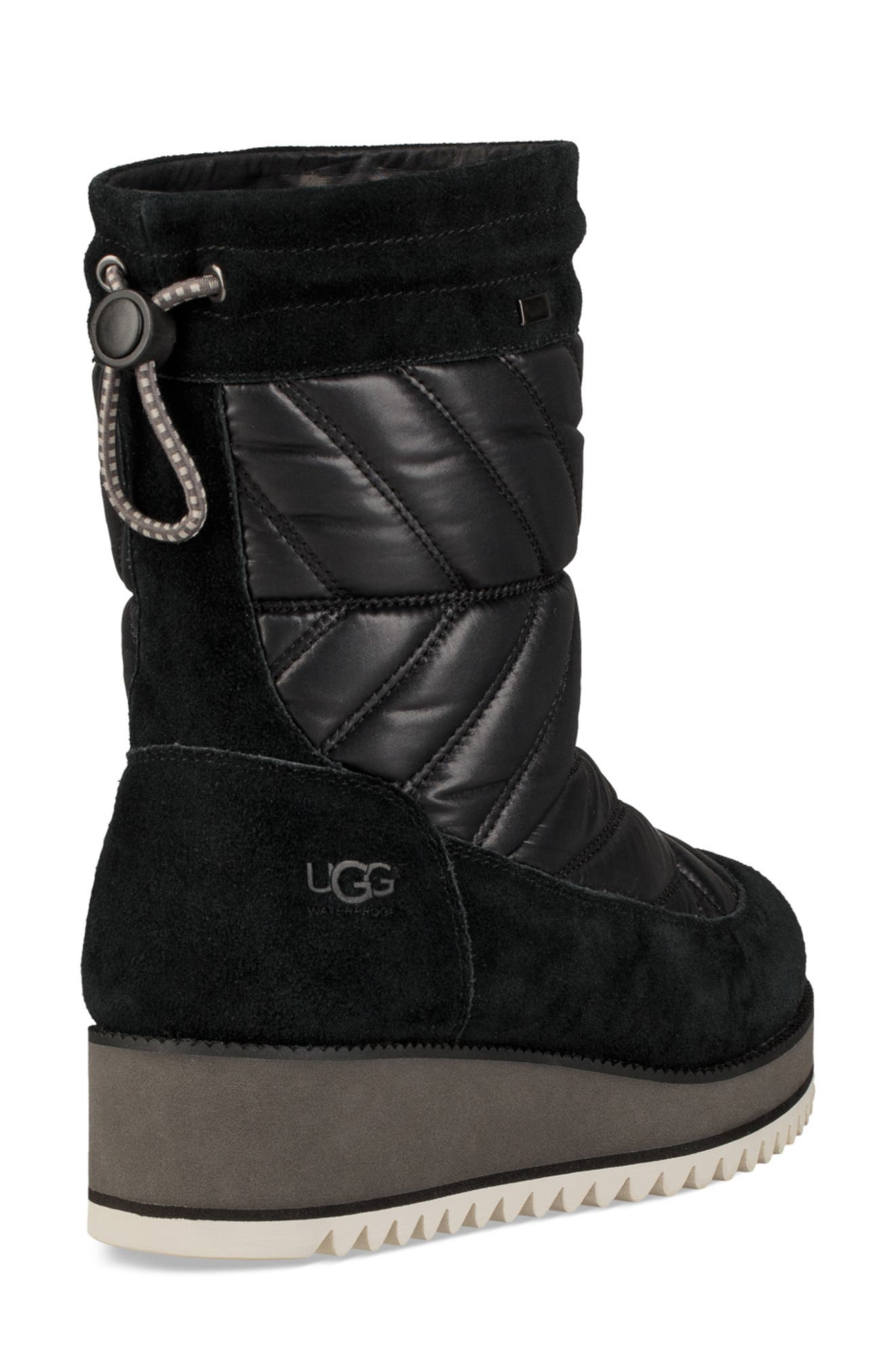 Beck Waterproof Quilted Boot,                             Alternate thumbnail 2, color,                             BLACK