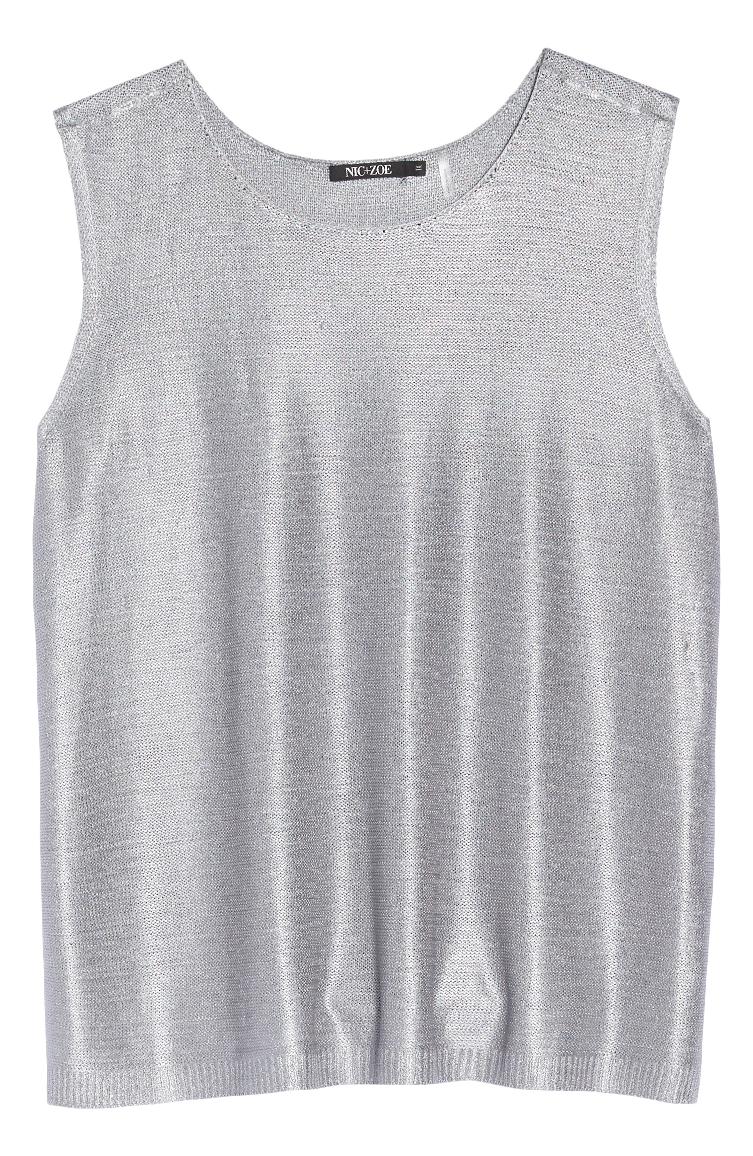 Beach Stone Knit Tank,                             Alternate thumbnail 7, color,                             020