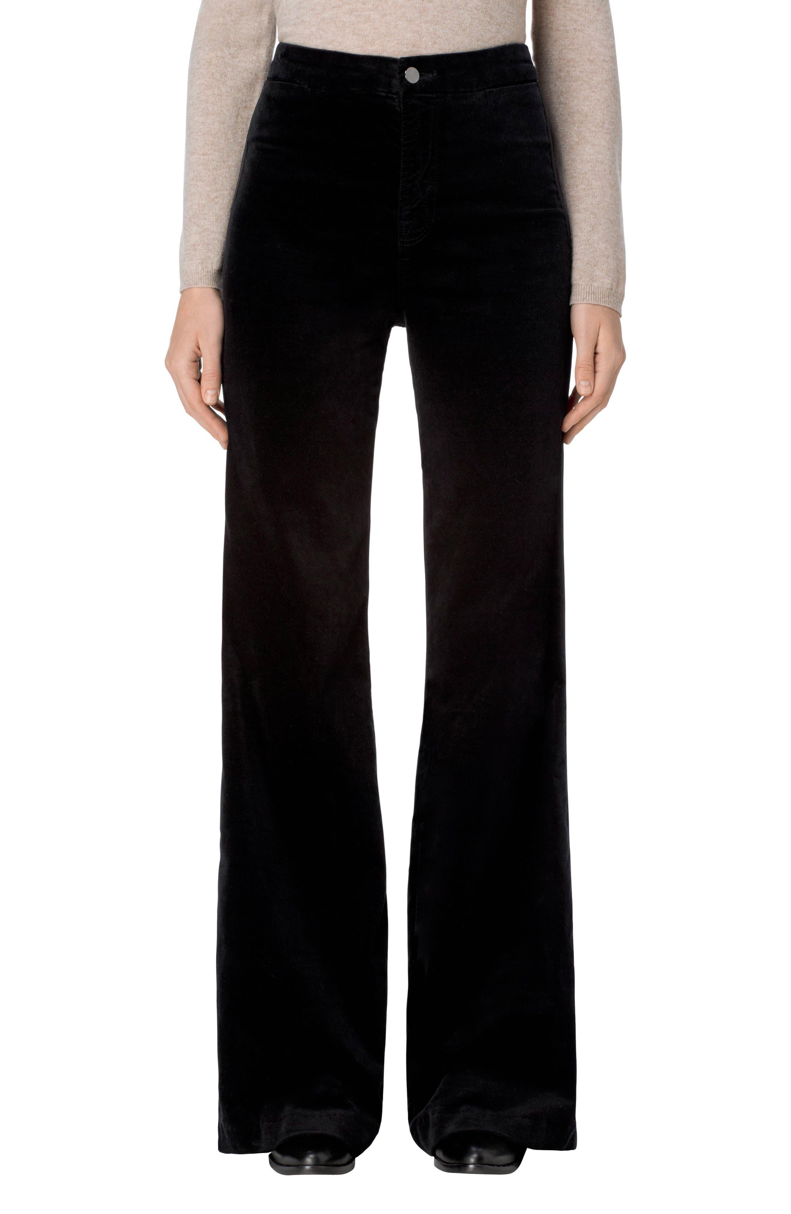 Isabella High Rise Flare Leg Pants,                         Main,                         color, 001
