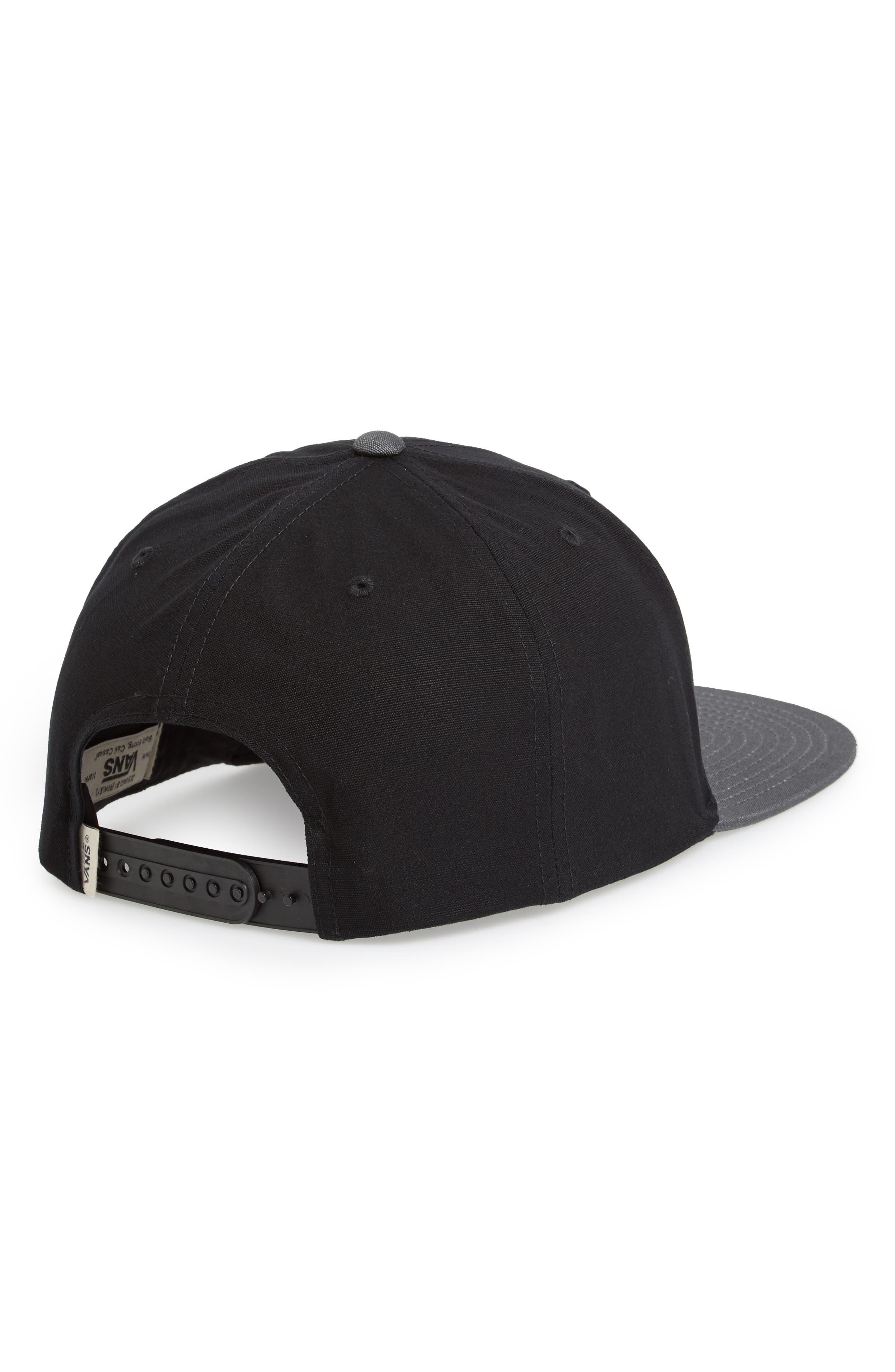 VANS,                             'Rowley' Snapback Hat,                             Alternate thumbnail 2, color,                             001