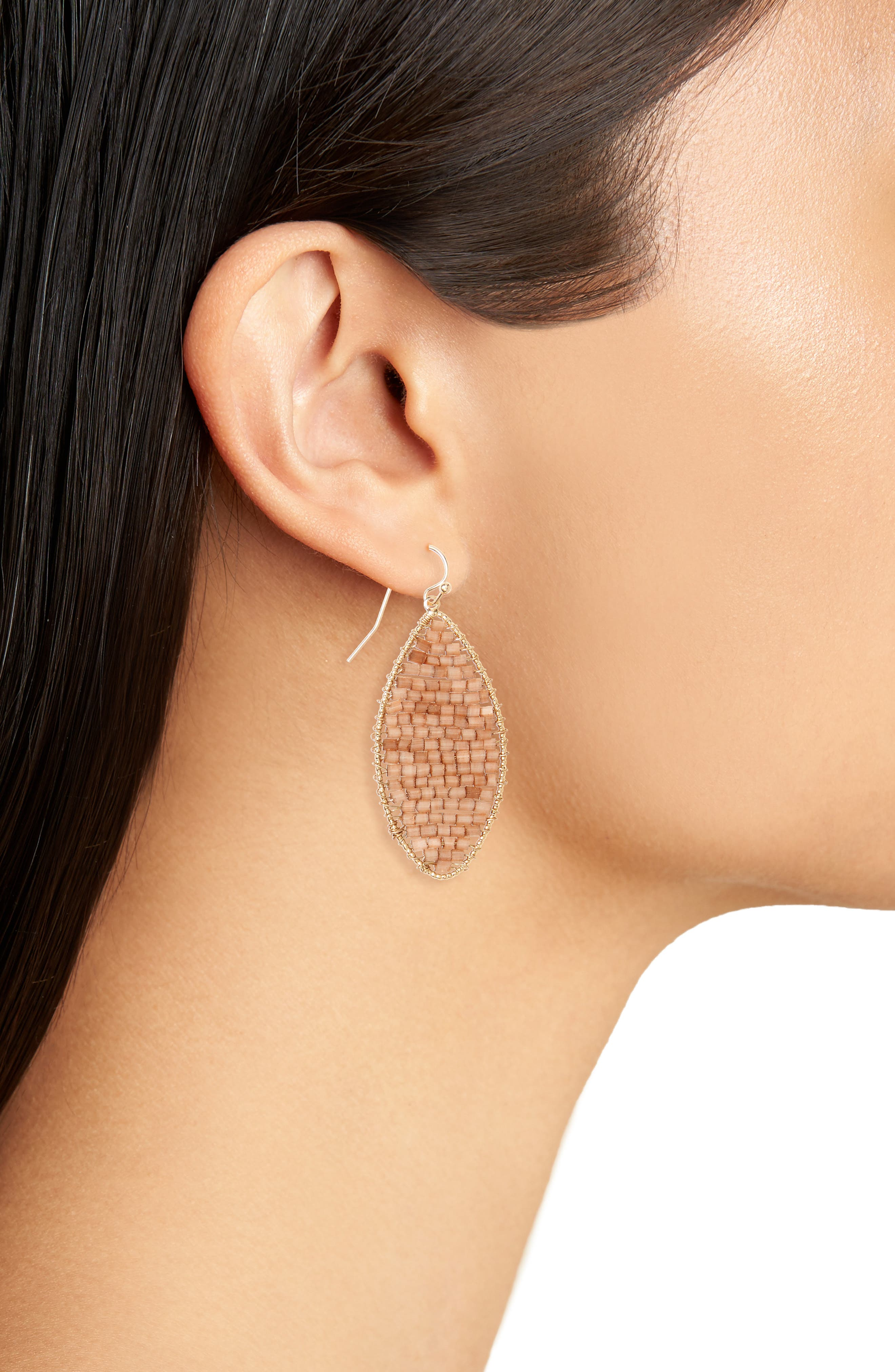 Marquise Beaded Drop Earrings,                             Alternate thumbnail 2, color,                             200