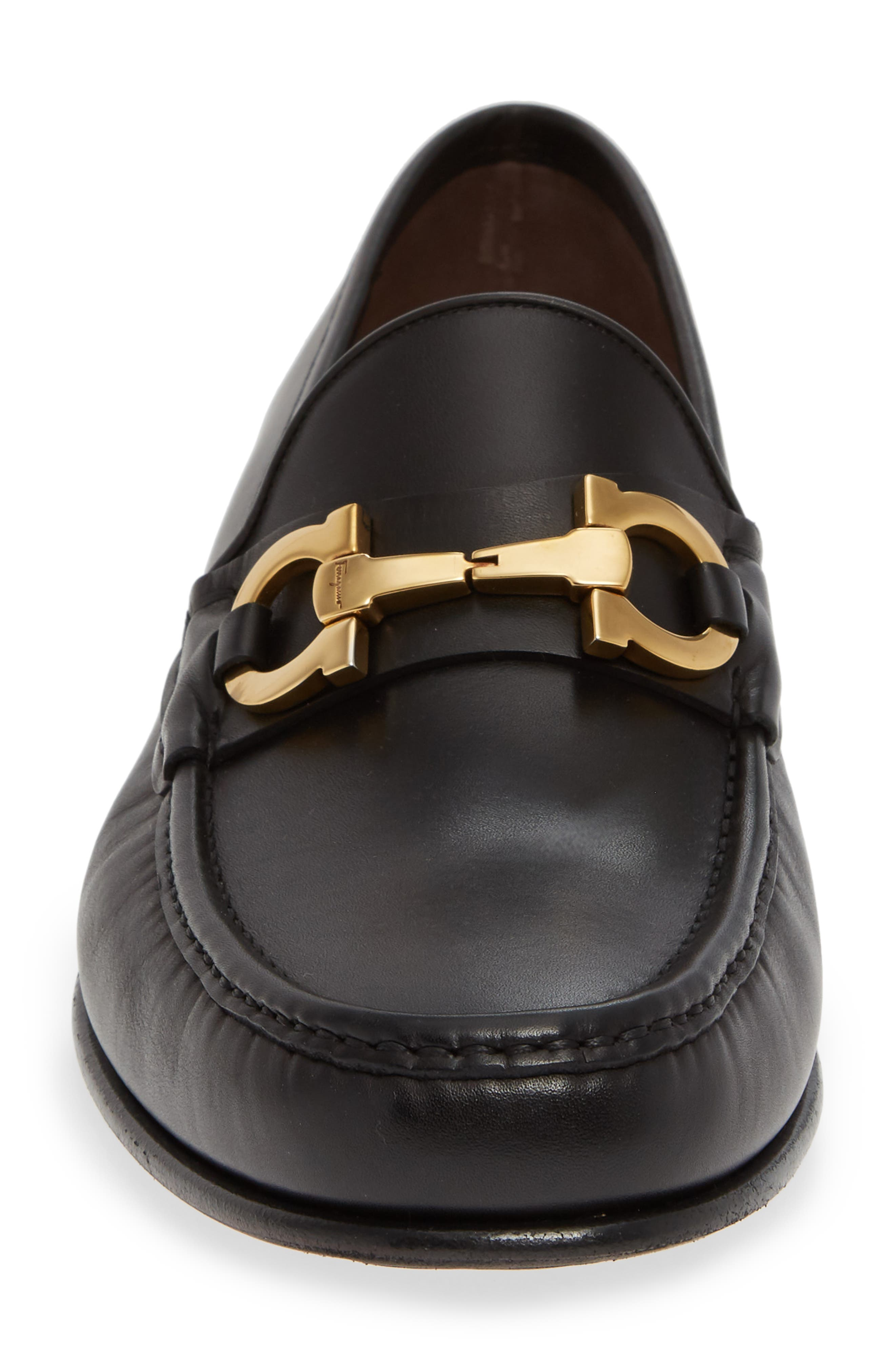 Bond Bitted Moc Loafer,                             Alternate thumbnail 4, color,                             NERO LEATHER
