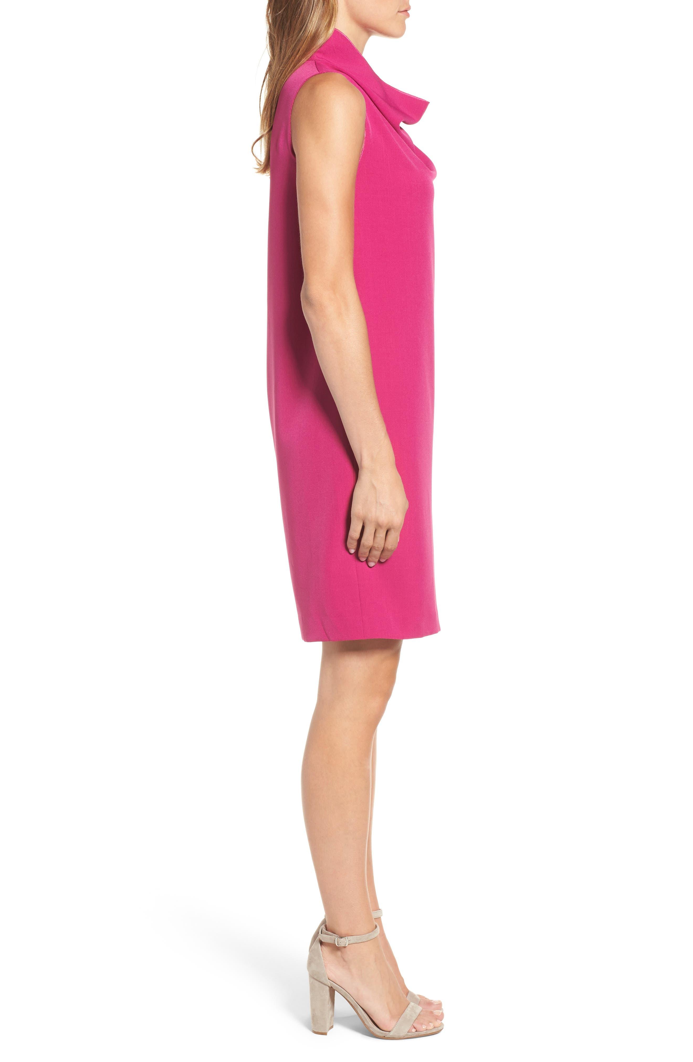 Cowl Neck Sheath Dress,                             Alternate thumbnail 6, color,