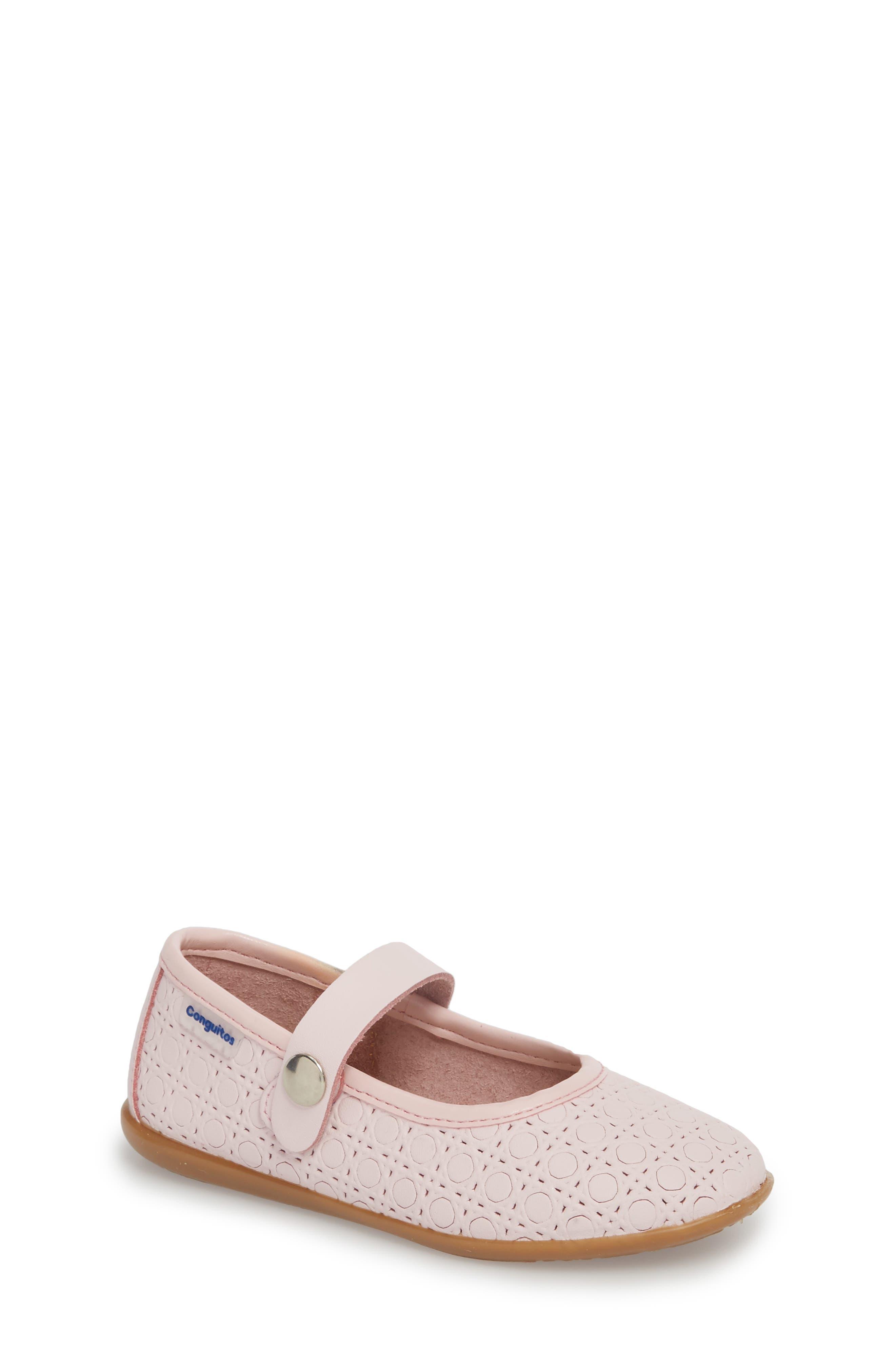 Toddler Girls Conguitos Geometric Washable Mary Jane Size 75US  24EU  Pink
