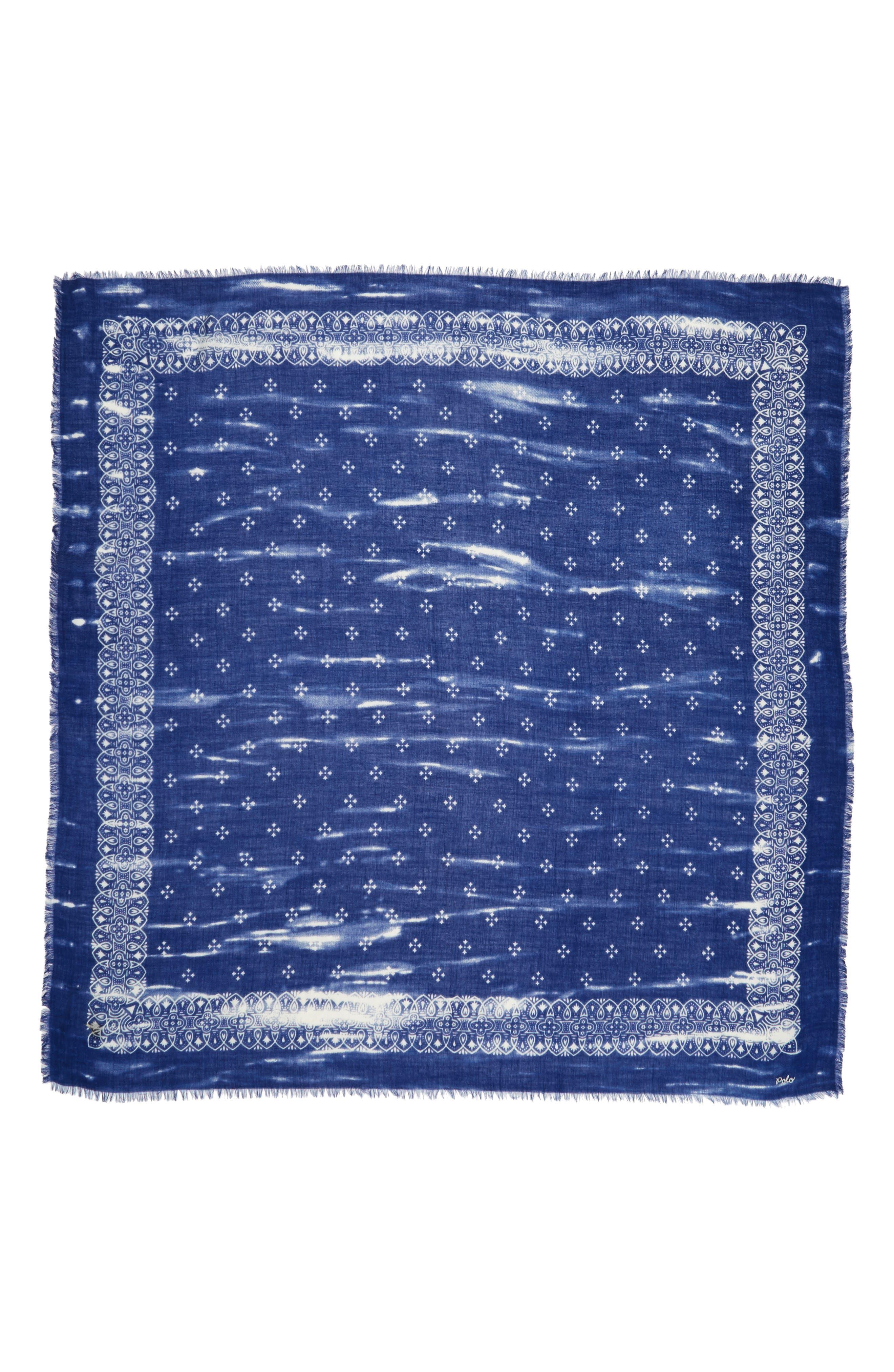 Wool Bandana Scarf,                             Alternate thumbnail 2, color,                             414