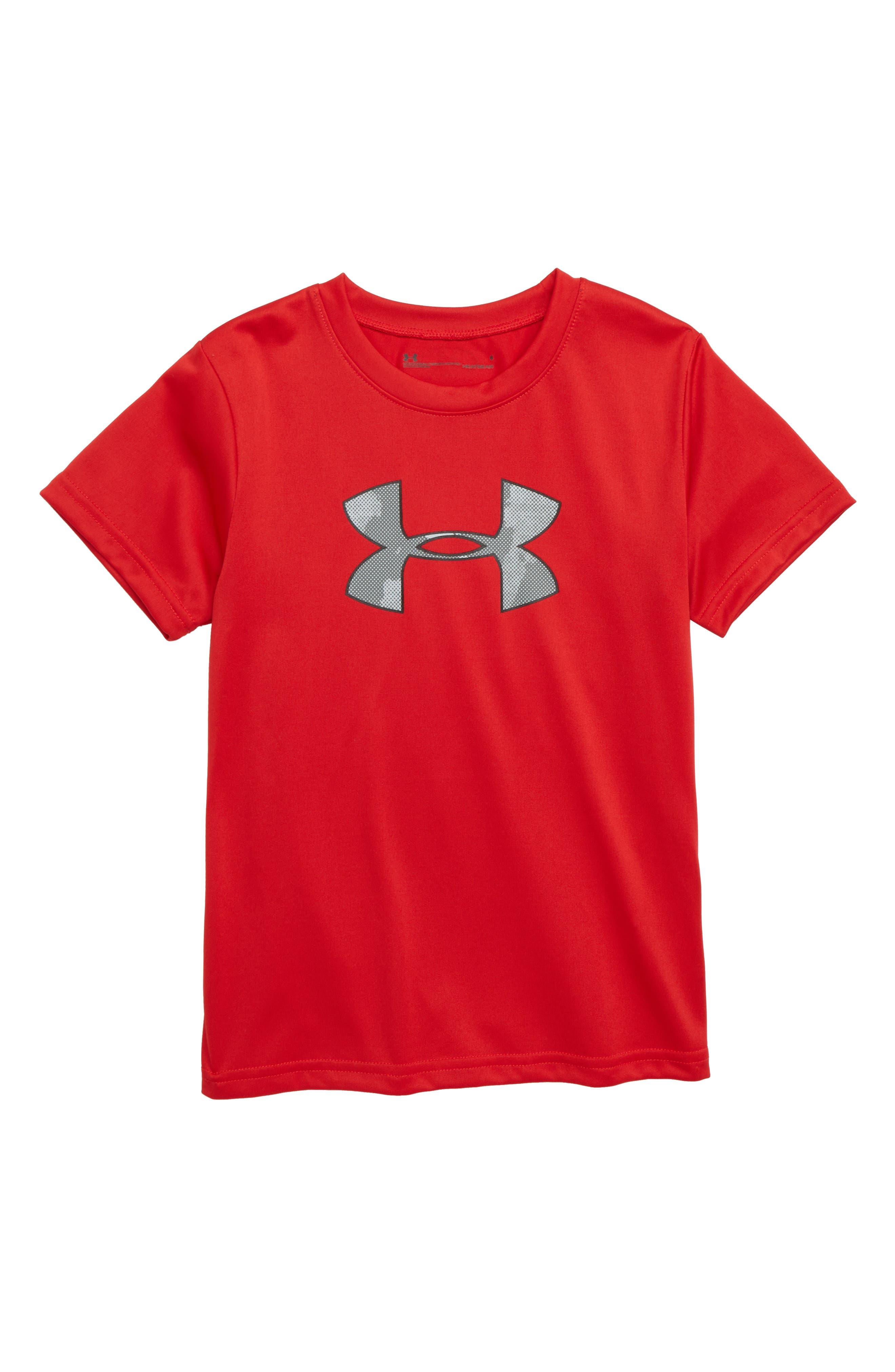 UNDER ARMOUR Traverse Camo Logo T-Shirt, Main, color, 600