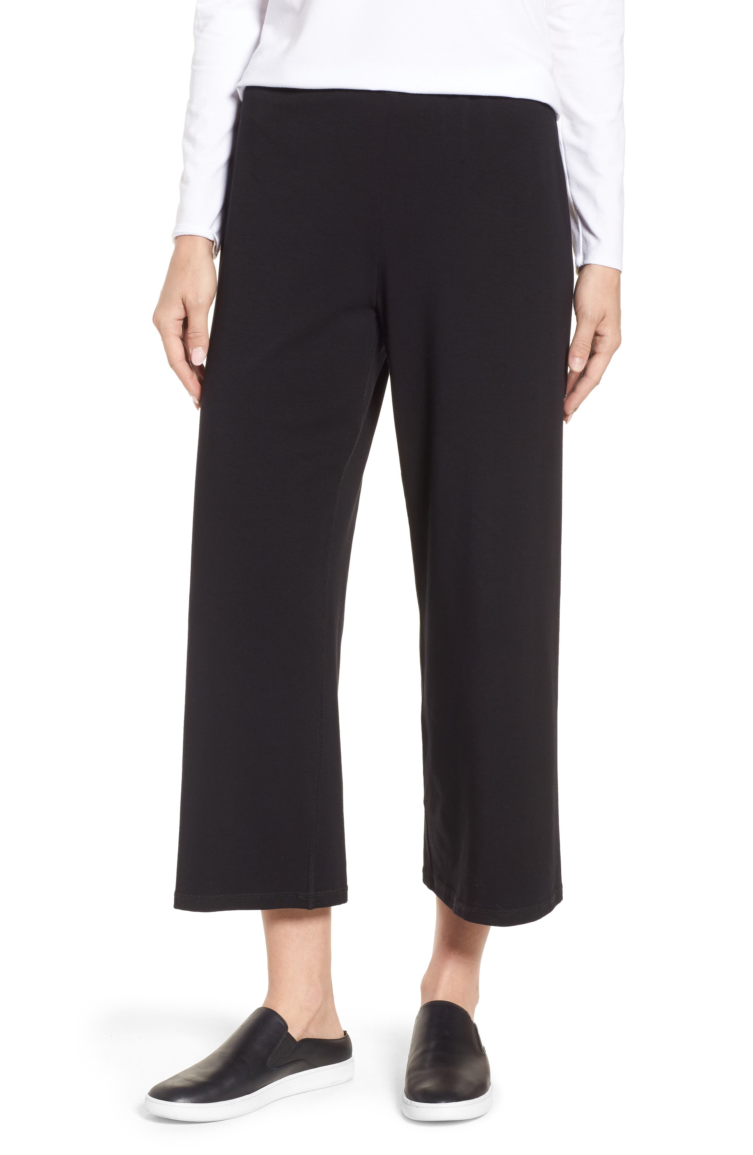 Stretch Organic Cotton Crop Pants,                             Main thumbnail 1, color,                             001