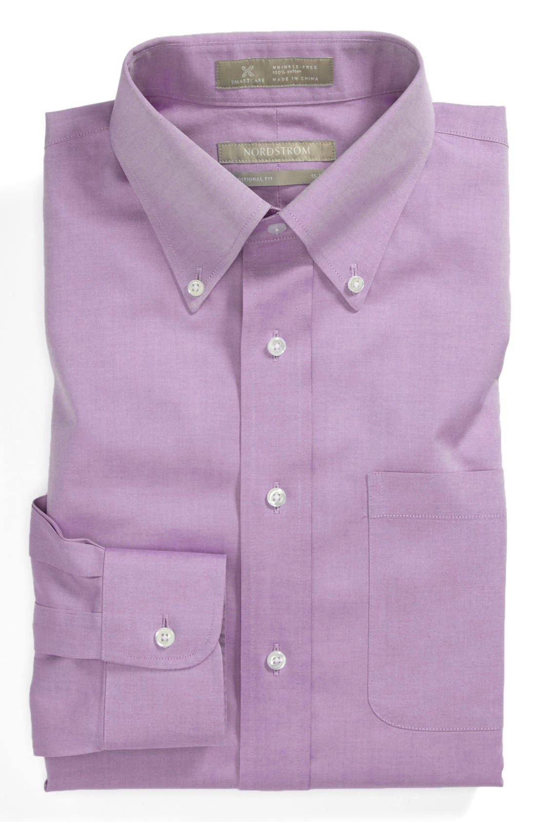 Smartcare<sup>™</sup> Traditional Fit Pinpoint Dress Shirt,                             Main thumbnail 26, color,