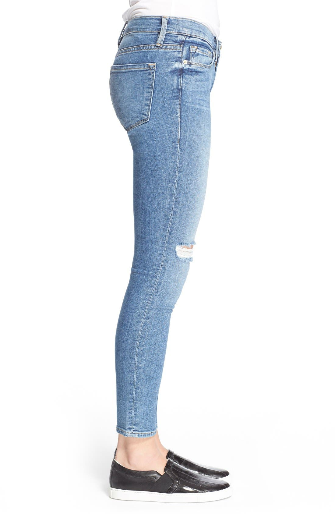 FRAME,                             'Le Skinny de Jeanne' Jeans,                             Alternate thumbnail 4, color,                             402