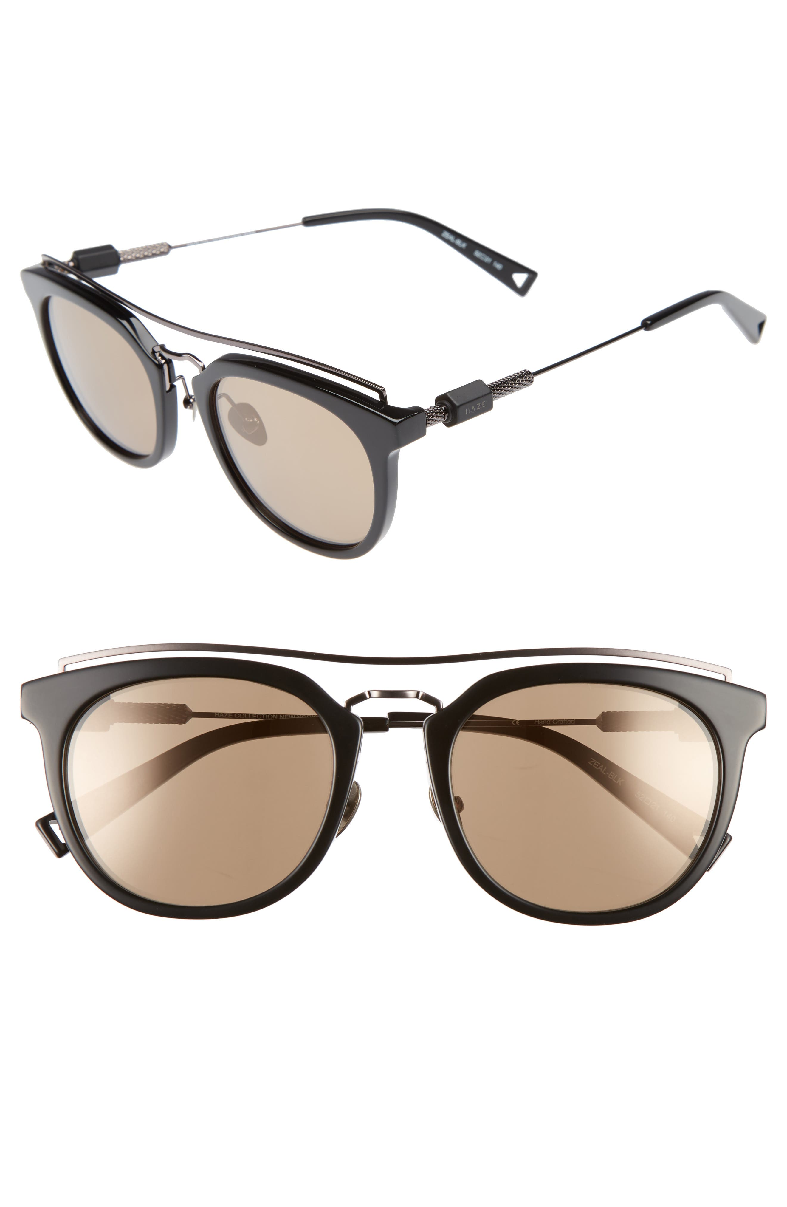 Zeal 52mm Aviator Sunglasses,                             Main thumbnail 4, color,