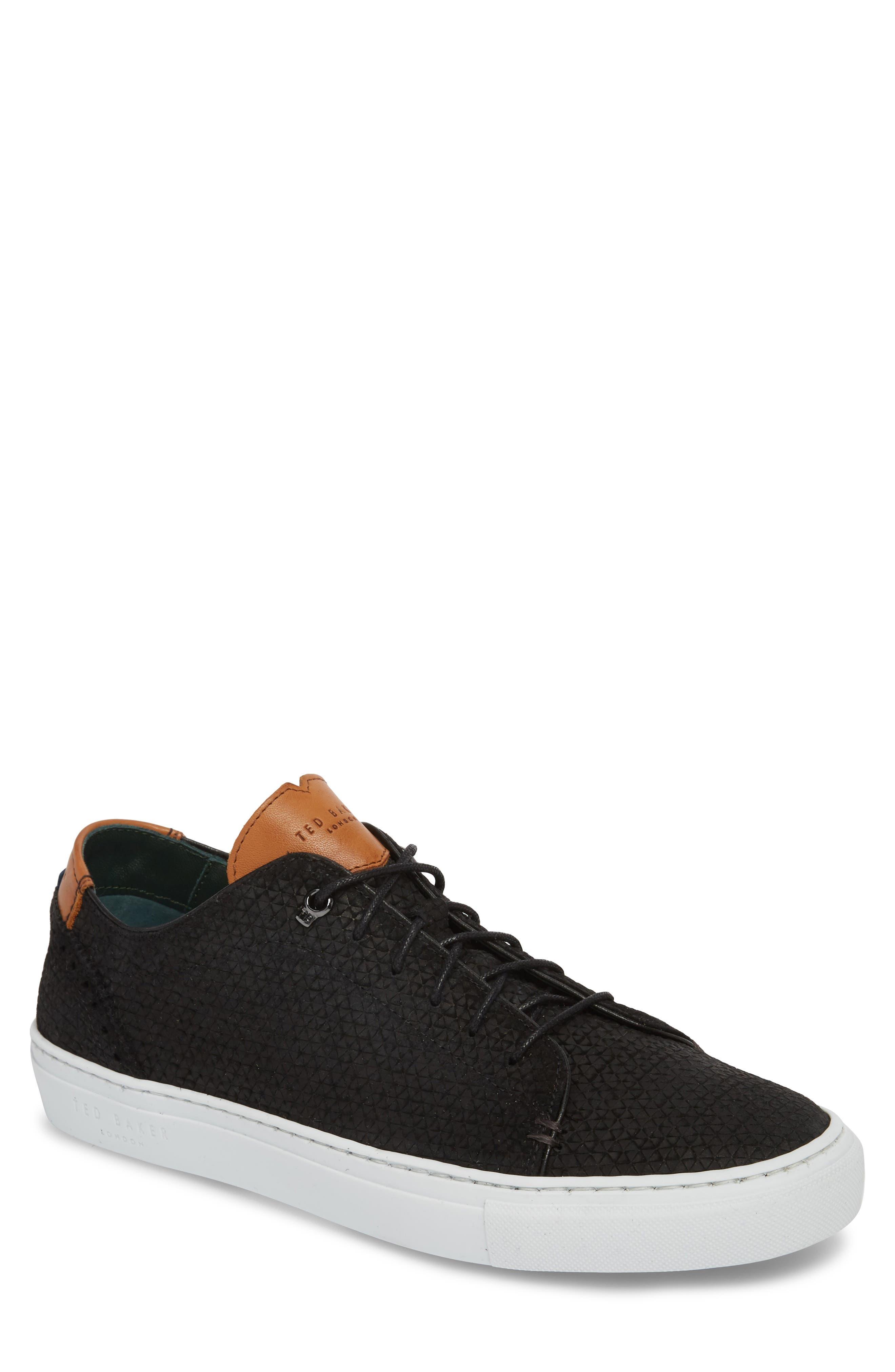TED BAKER LONDON,                             Duukes Embossed Low Top Sneaker,                             Main thumbnail 1, color,                             010
