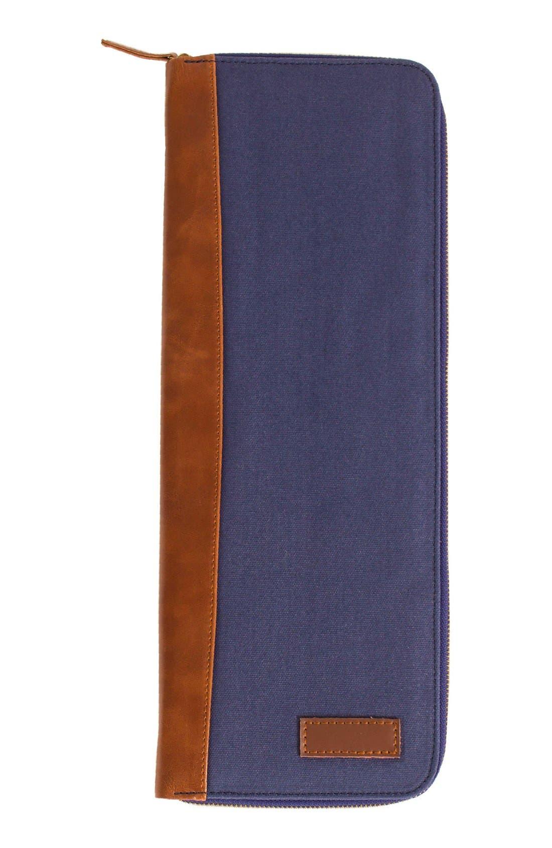 Monogram Tie Case,                         Main,                         color, NAVY