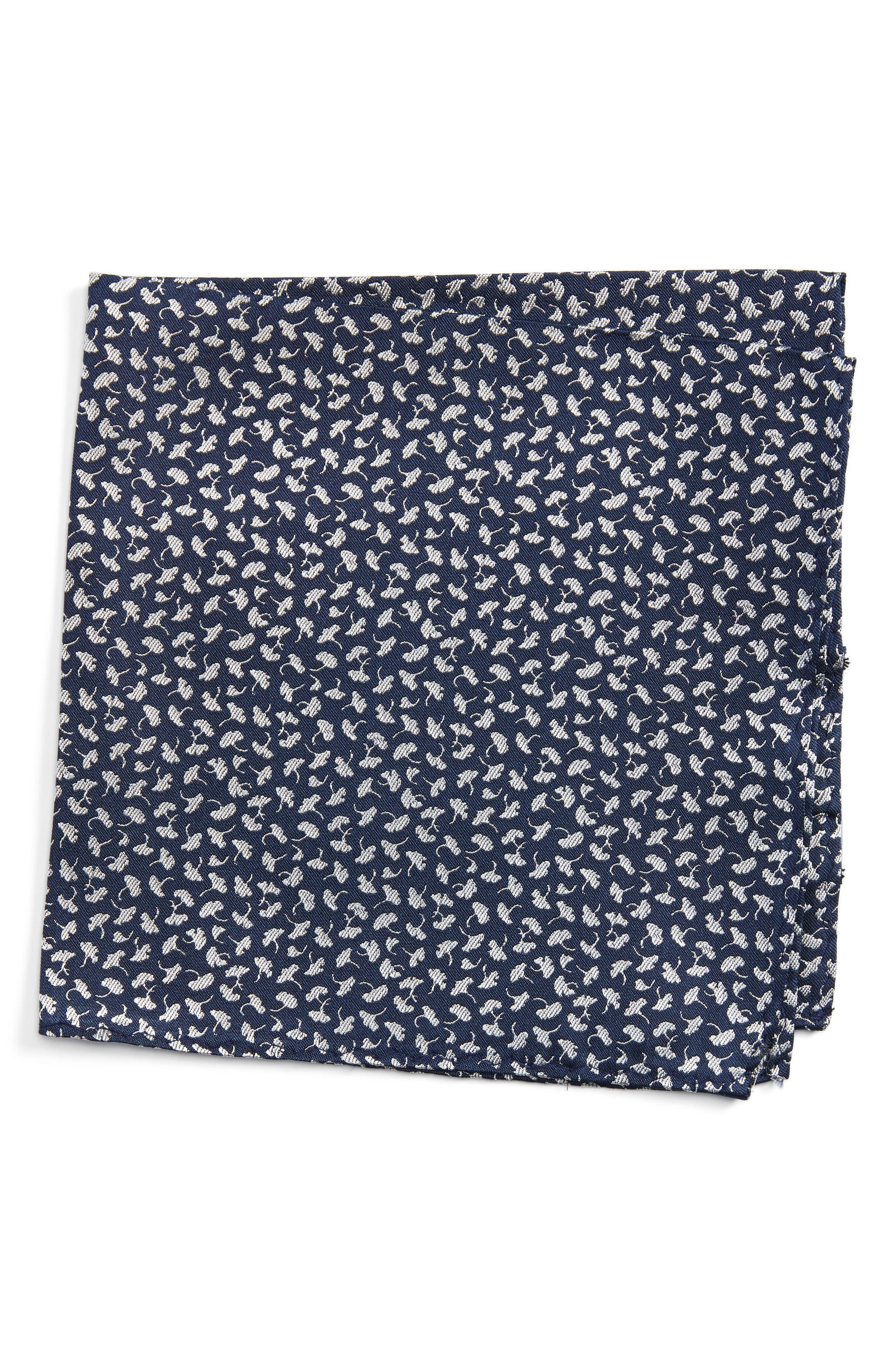 Floral Silk Pocket Square,                         Main,                         color, 410