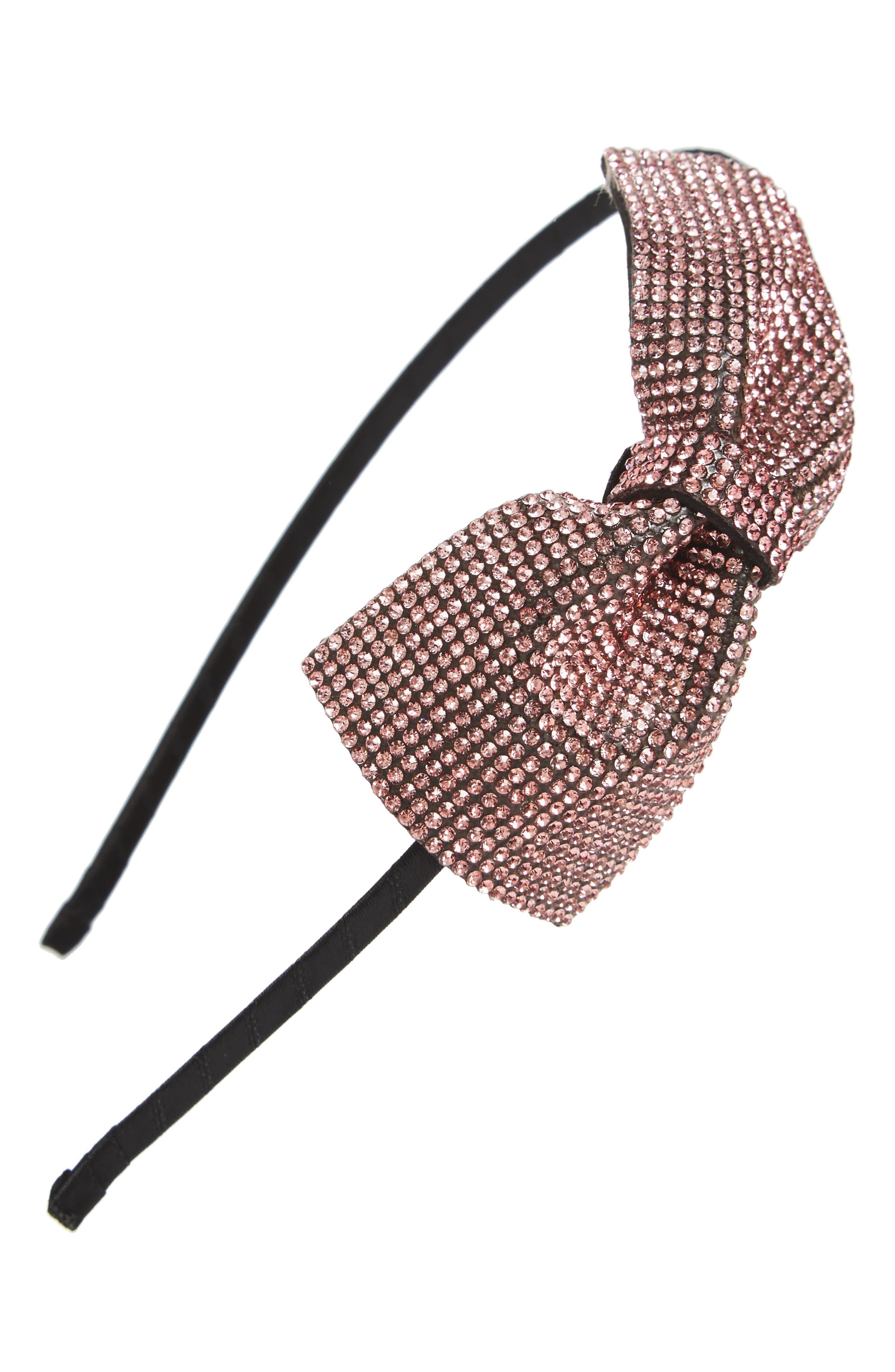Sparkle Bow Headband,                             Main thumbnail 2, color,