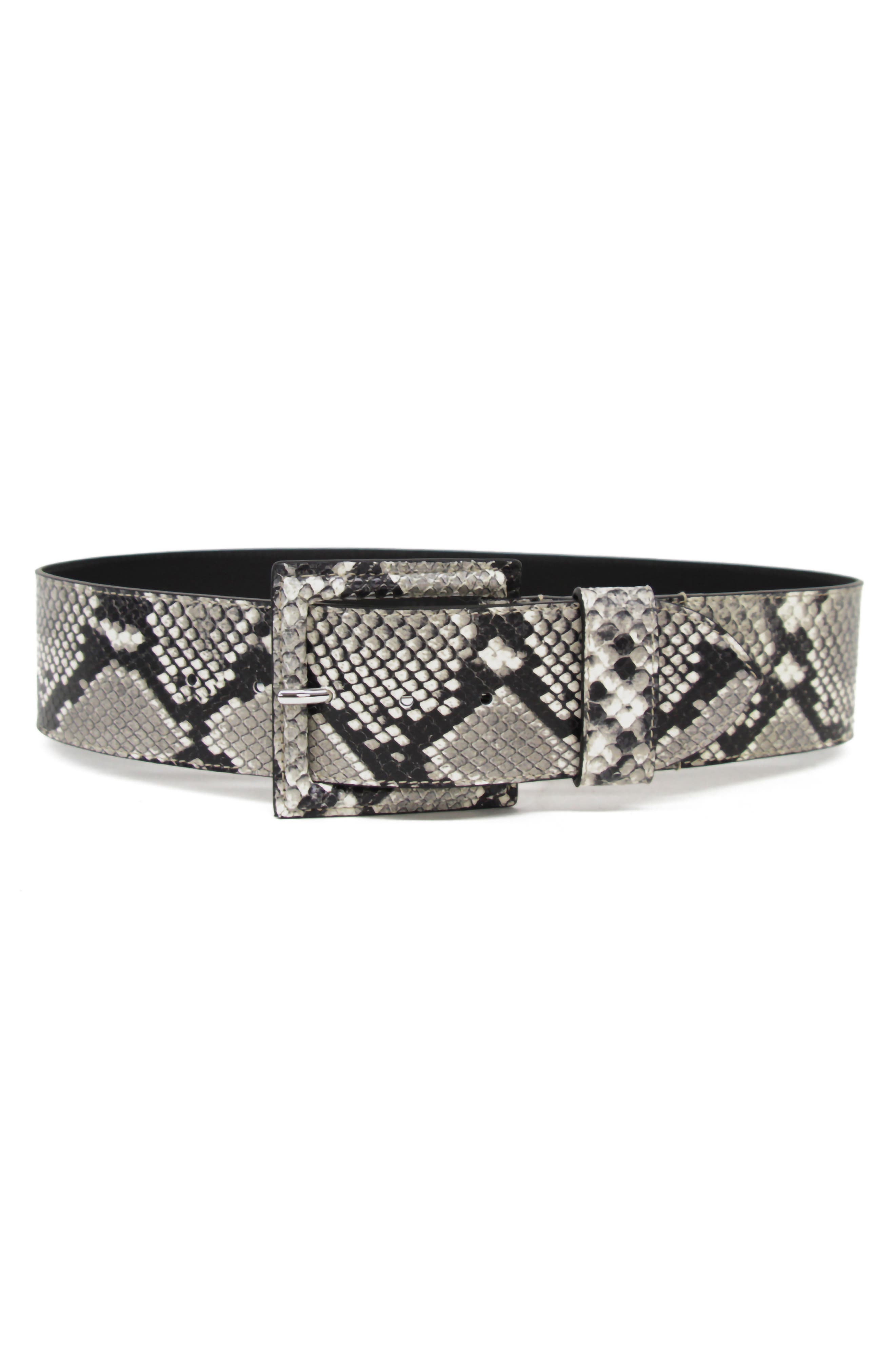 B-Low The Belt Ana Python Embossed Leather Belt