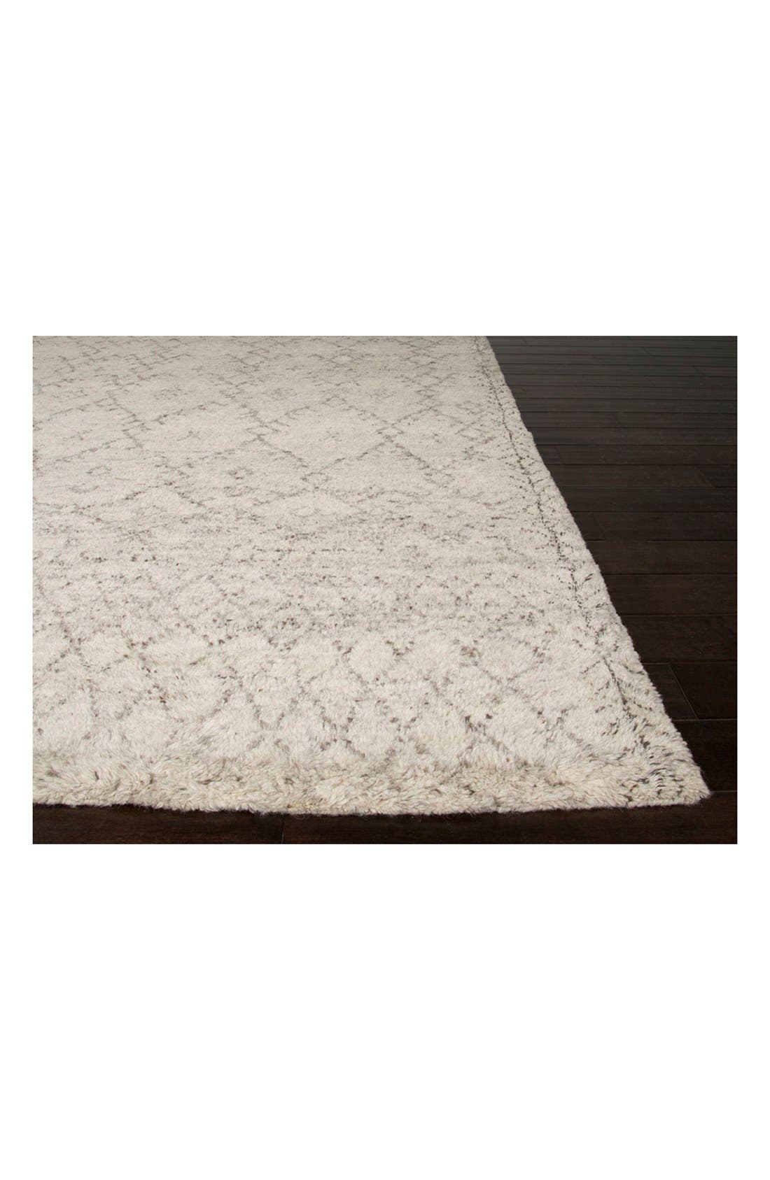'Zola' Wool Area Rug,                             Alternate thumbnail 2, color,                             IVORY/ GREY