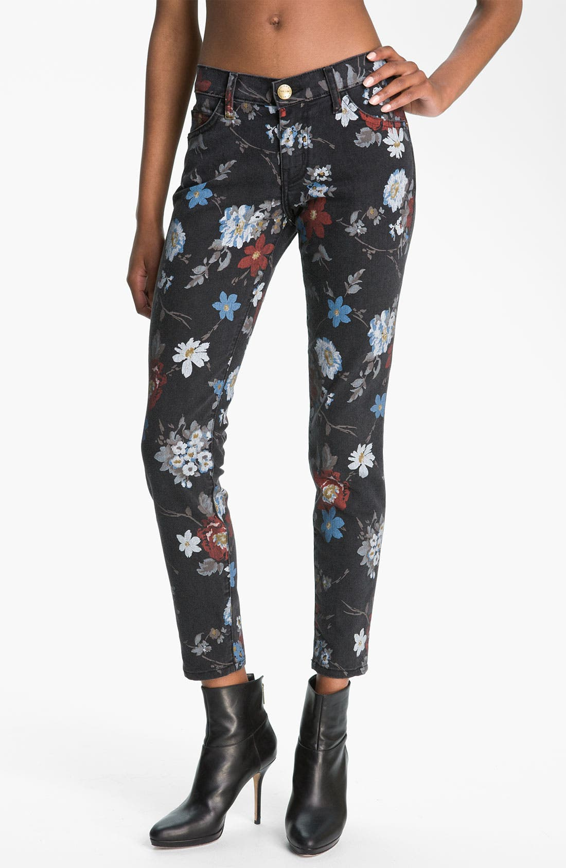 'The Stiletto' Print Skinny Jeans,                             Main thumbnail 1, color,                             009
