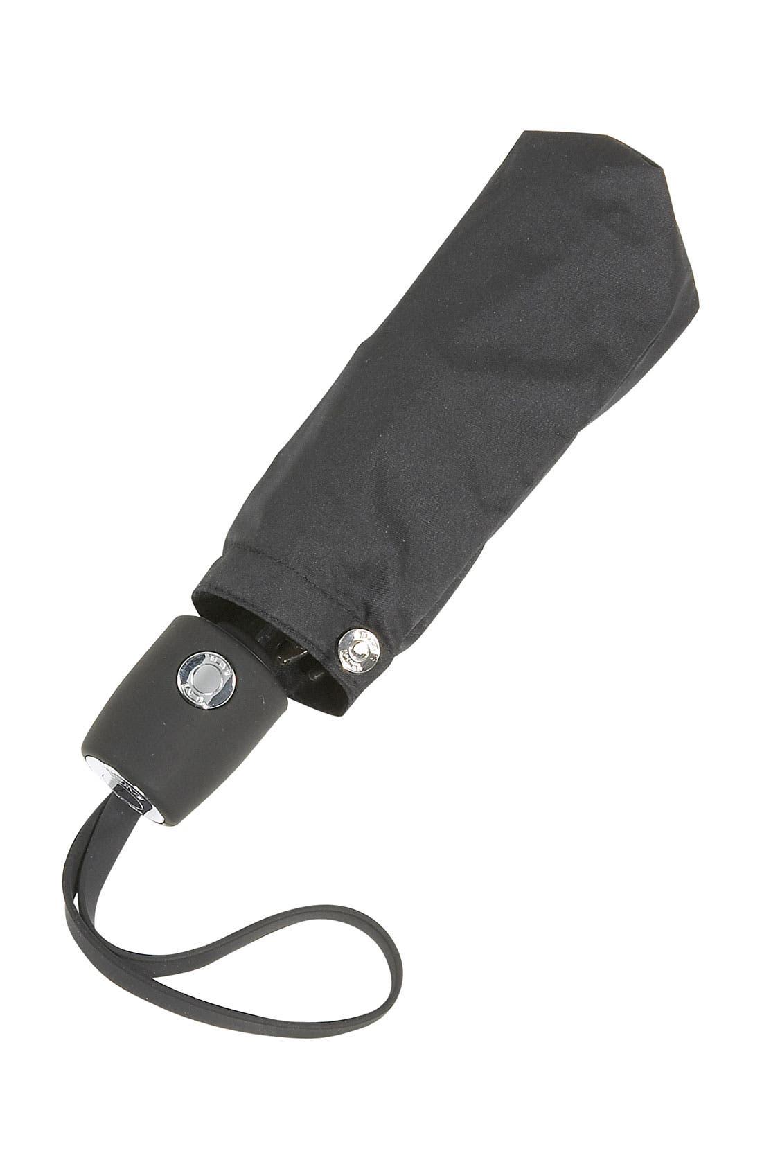 Small Auto Close Umbrella,                             Alternate thumbnail 3, color,                             BLACK
