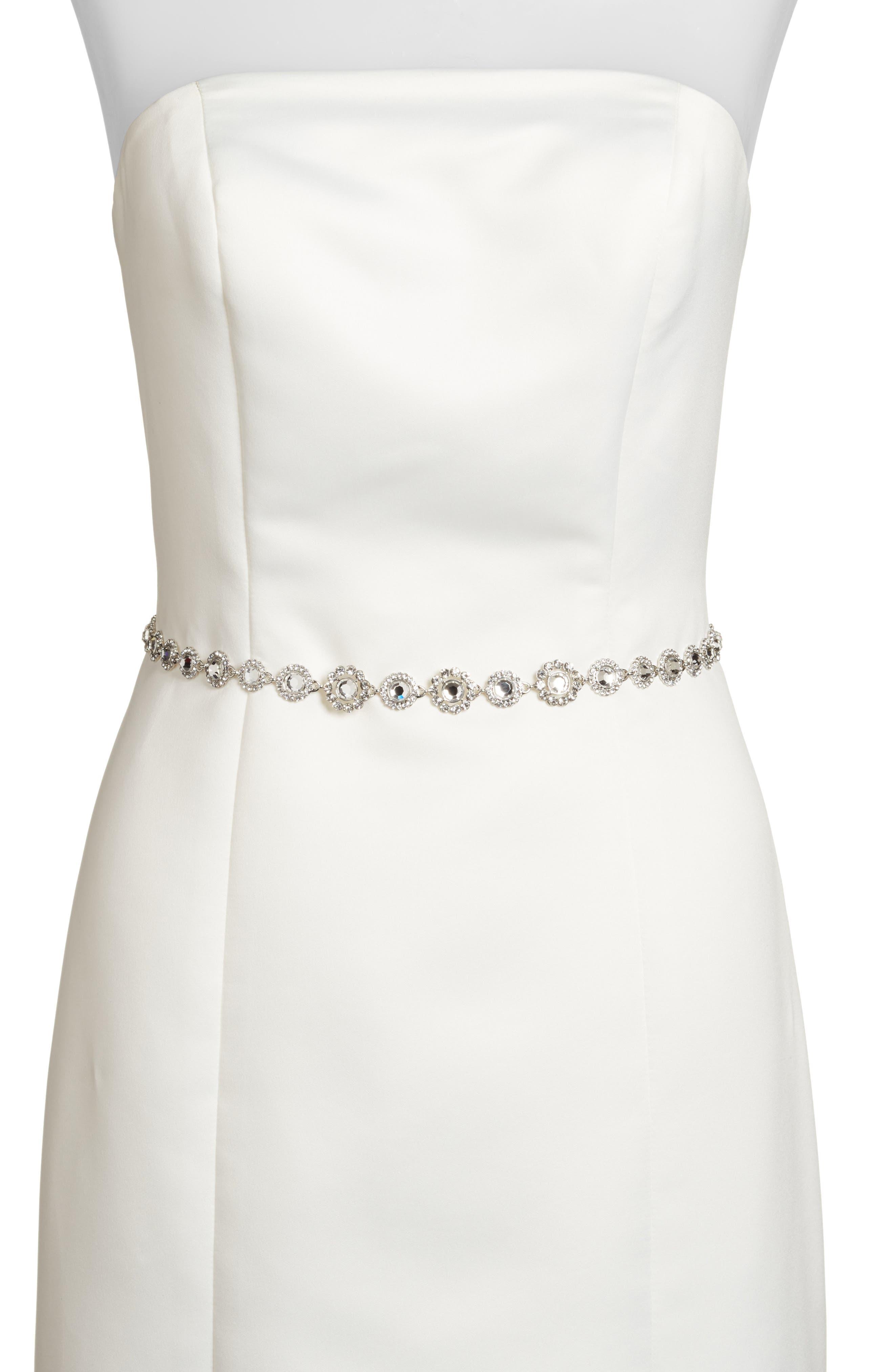 Kate Spade New York Crystal Bridal Belt, Silver