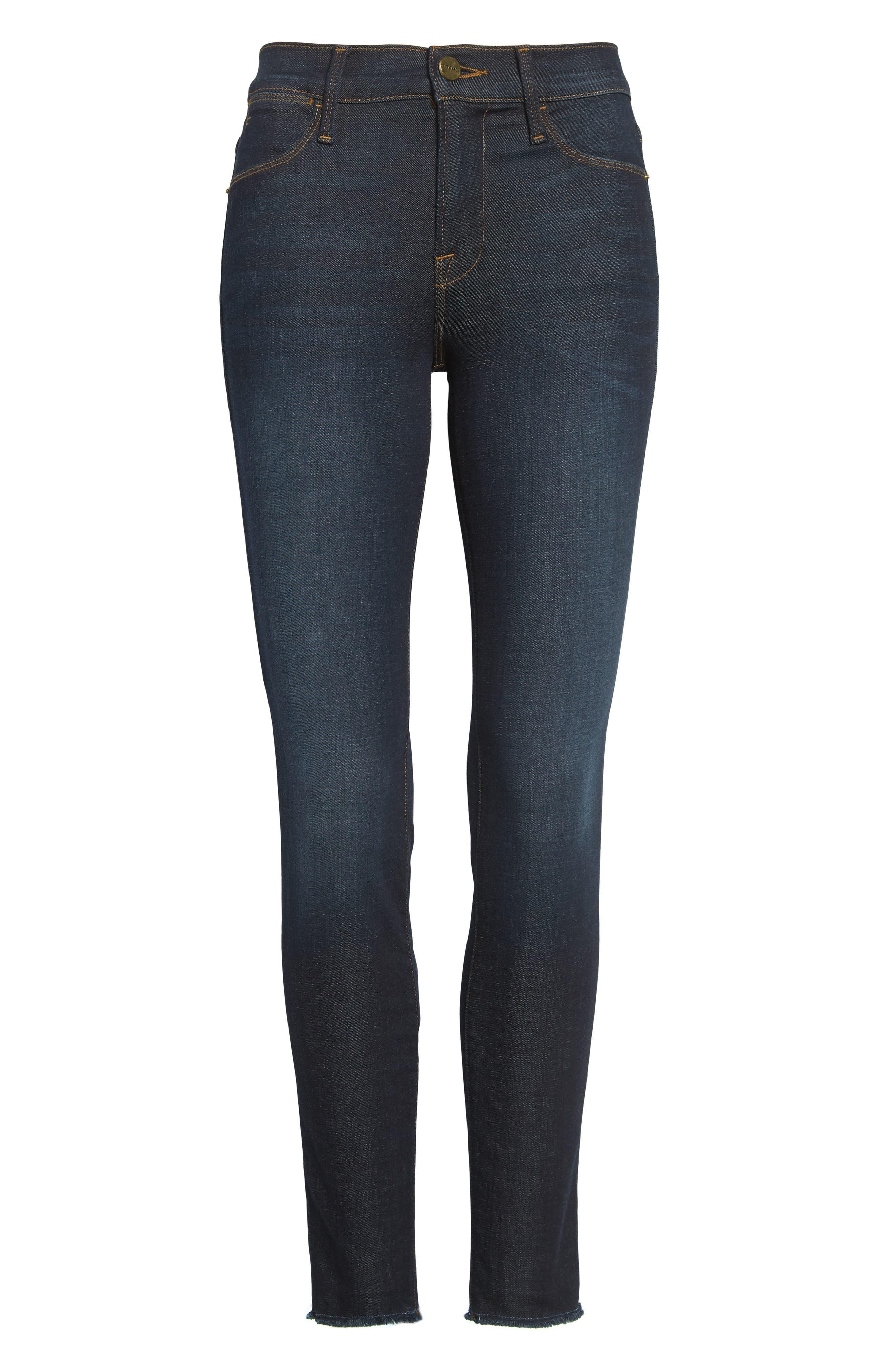 High Waist Skinny Jeans,                             Alternate thumbnail 2, color,                             SALTAIR