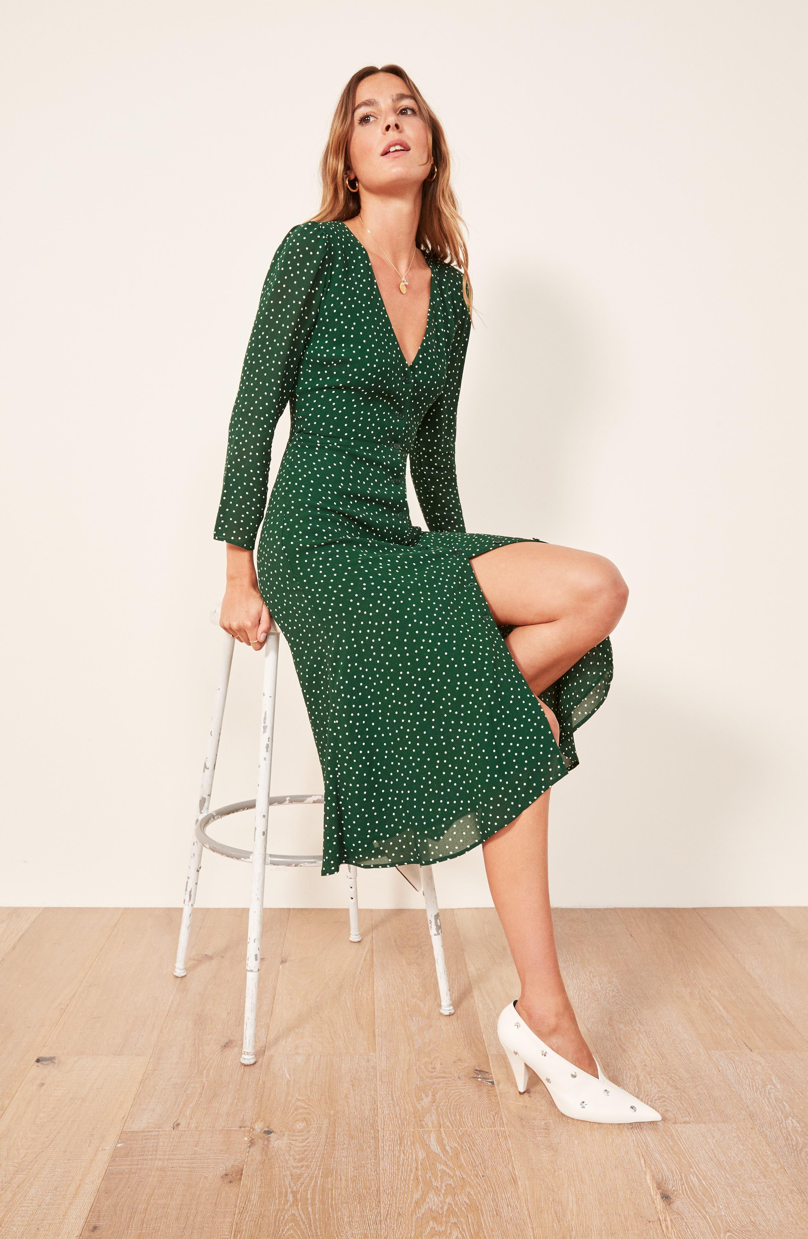 Alma Midi Dress,                             Alternate thumbnail 2, color,                             ROSEMARY