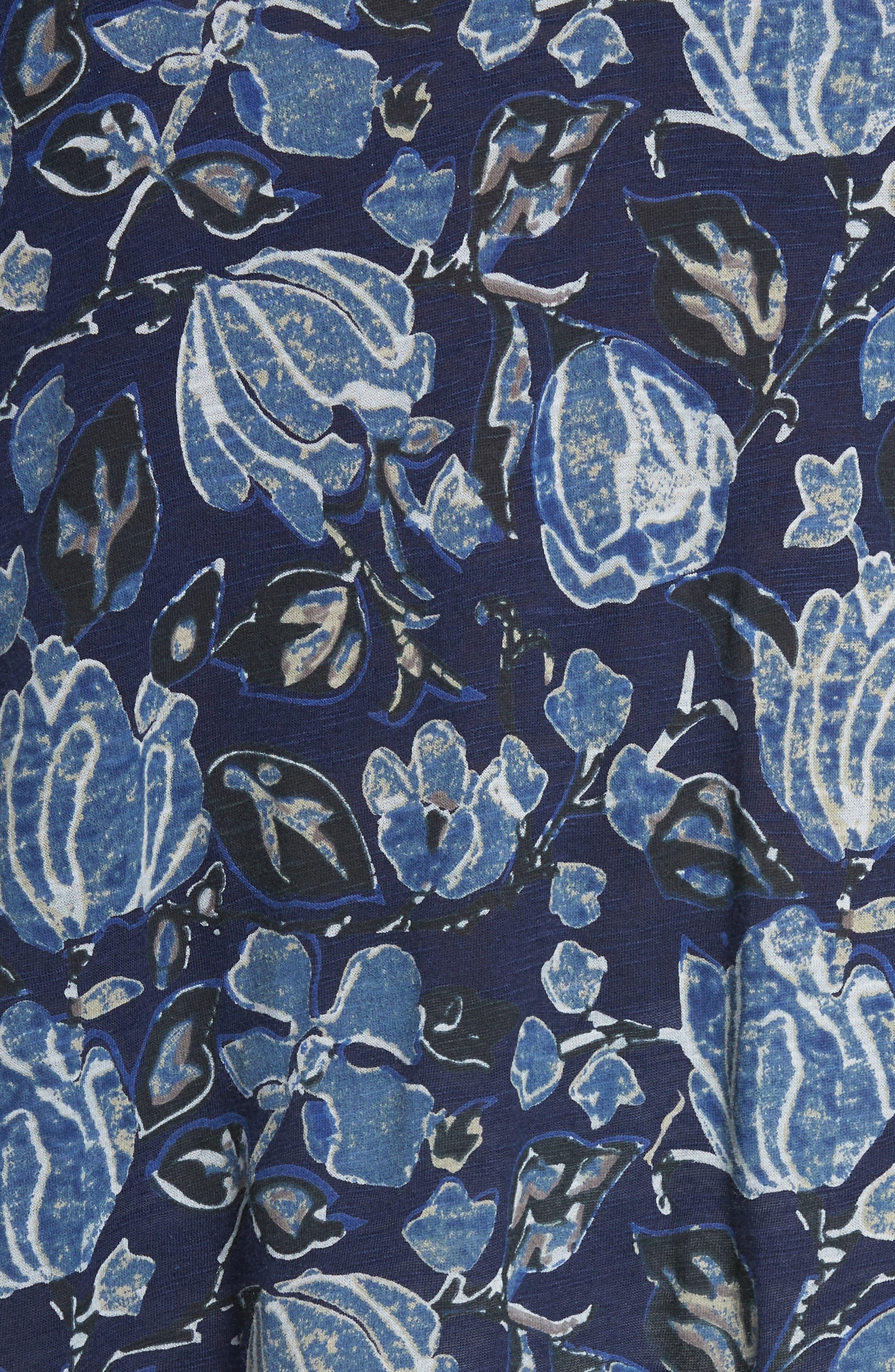 Floral Back Cutout Top,                             Alternate thumbnail 6, color,                             400
