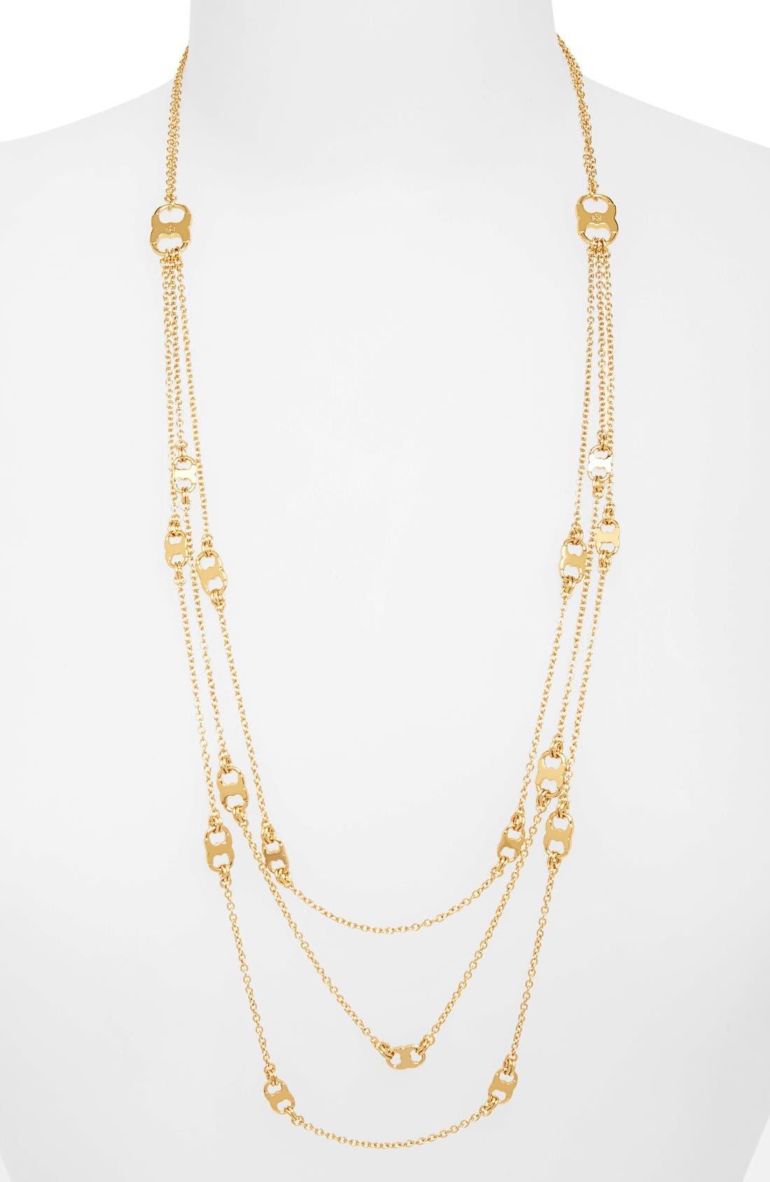 'Gemini' Link Multistrand Necklace,                             Main thumbnail 2, color,