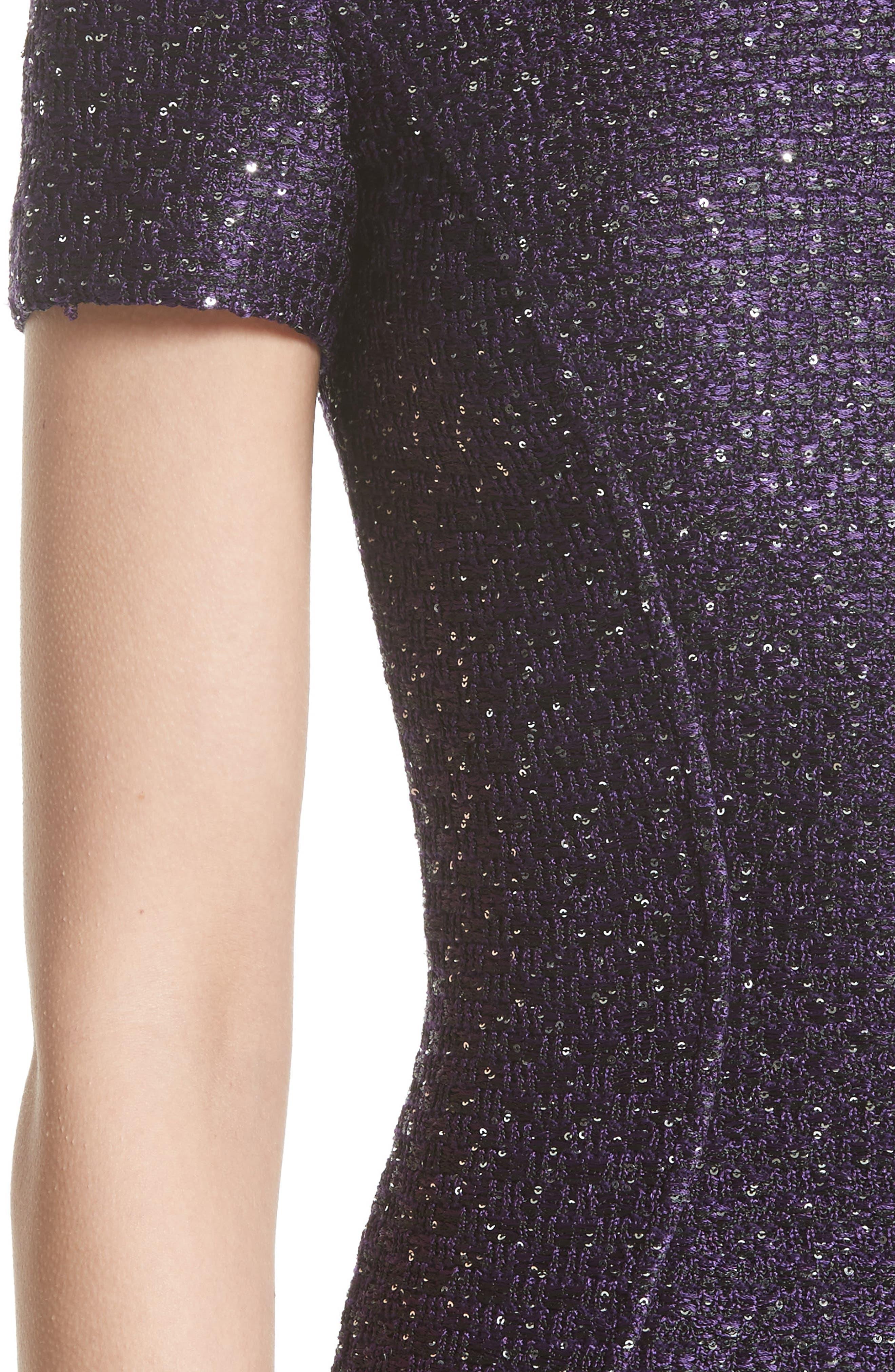 Hansh Sequin Knit Dress,                             Alternate thumbnail 4, color,                             500