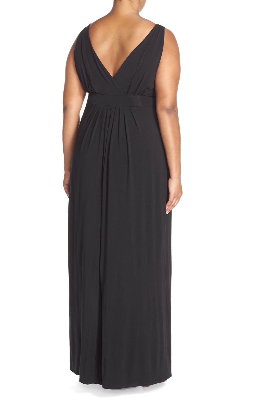 Chloe Empire Waist Maxi Dress,                             Alternate thumbnail 2, color,                             001