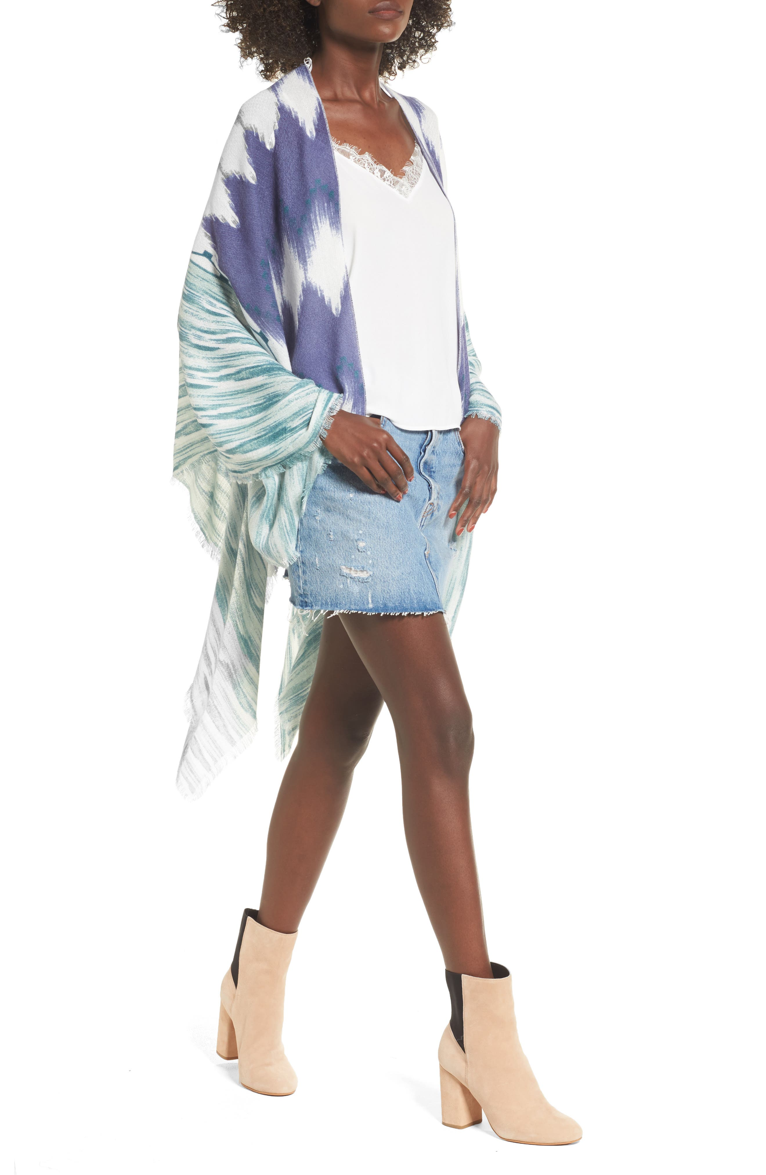 Ikat Kimono Scarf,                         Main,                         color,