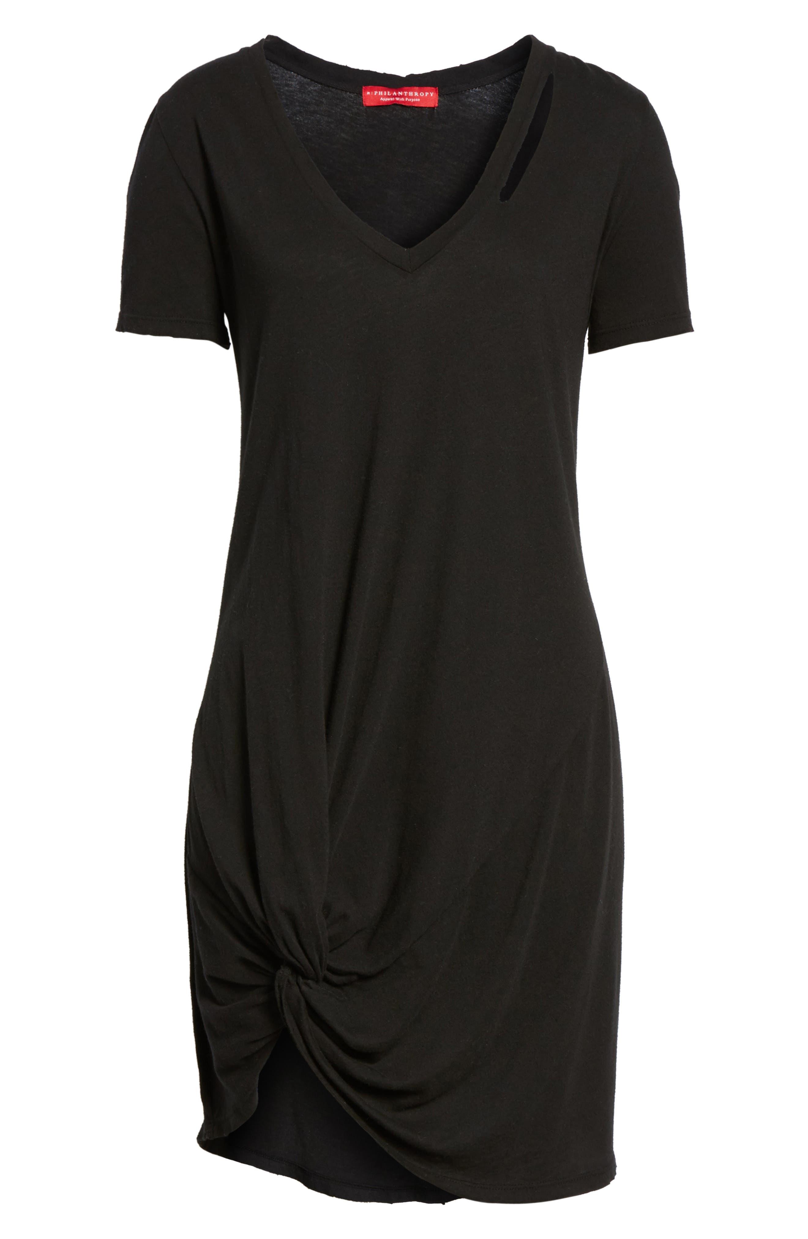 n: PHILANTHROPY Morrison T-Shirt Dress,                             Alternate thumbnail 6, color,                             001