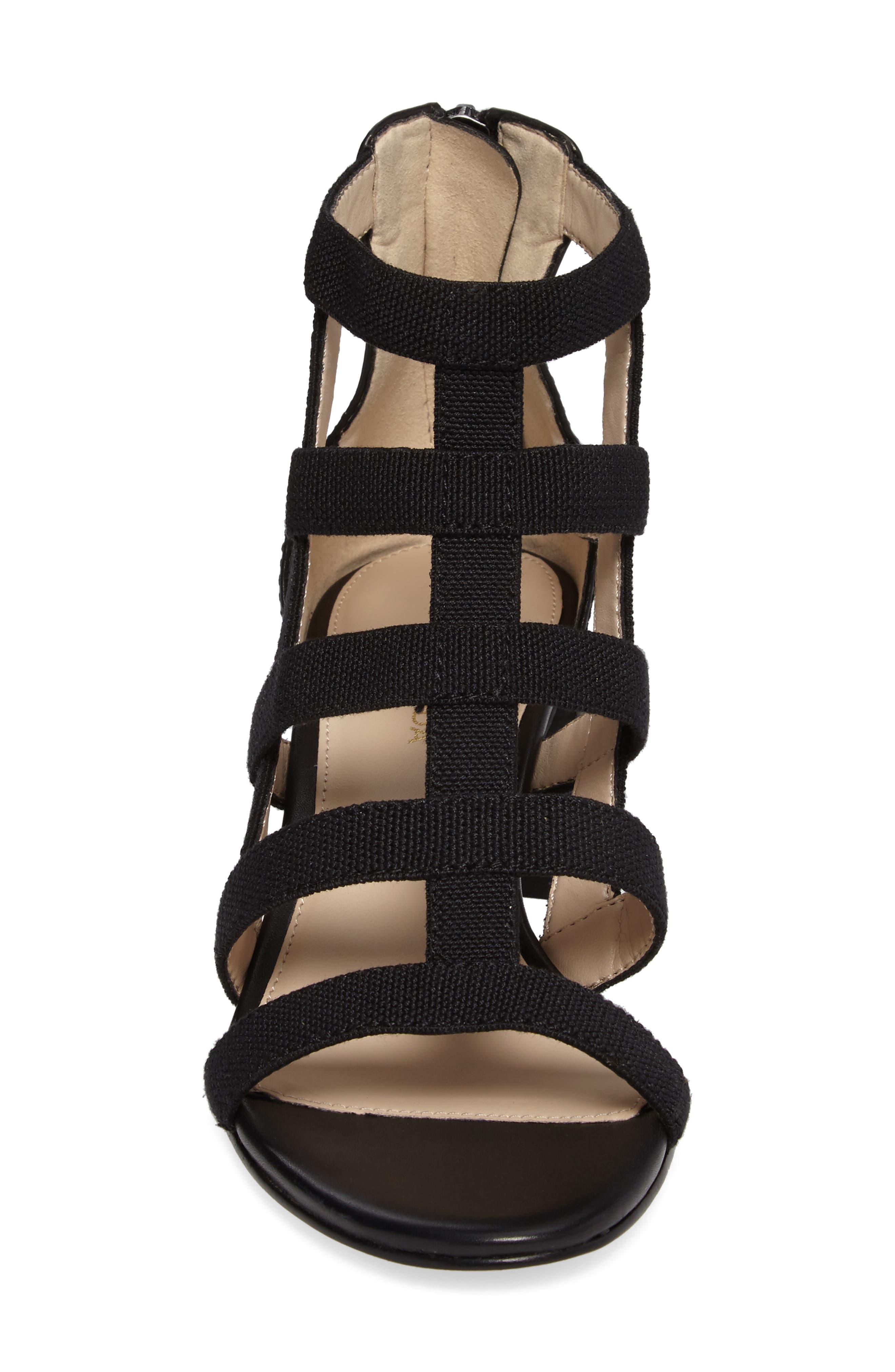 Unkar Block Heel Sandal,                             Alternate thumbnail 4, color,                             001