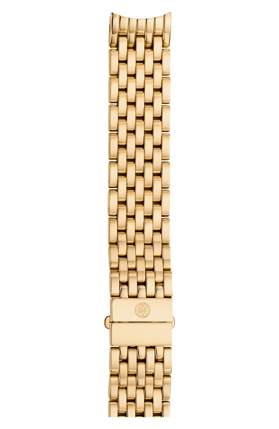 Serein 16mm Gold Plated Bracelet Watchband,                         Main,                         color, GOLD